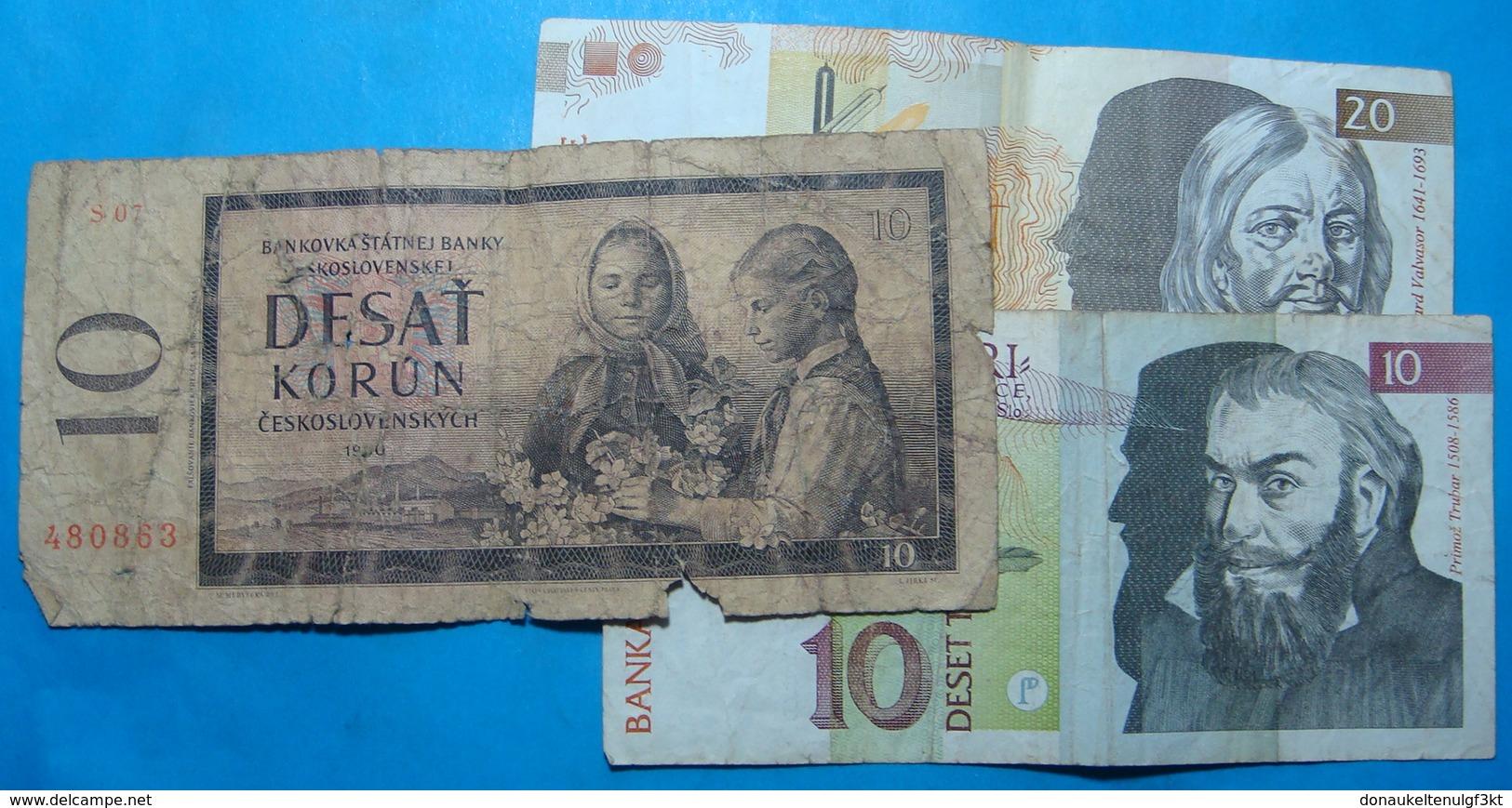 SLOVENIA Lot Of  3 Banknotes - Slovénie