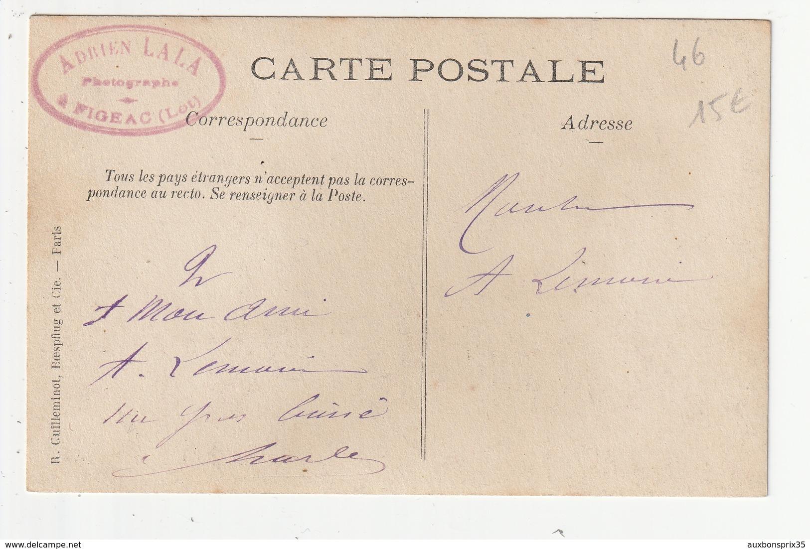 CARTE PHOTO - ENVIRONS DE FIGEAC - ACCIDENT DE CHEMINS DE FER - 46 - Figeac