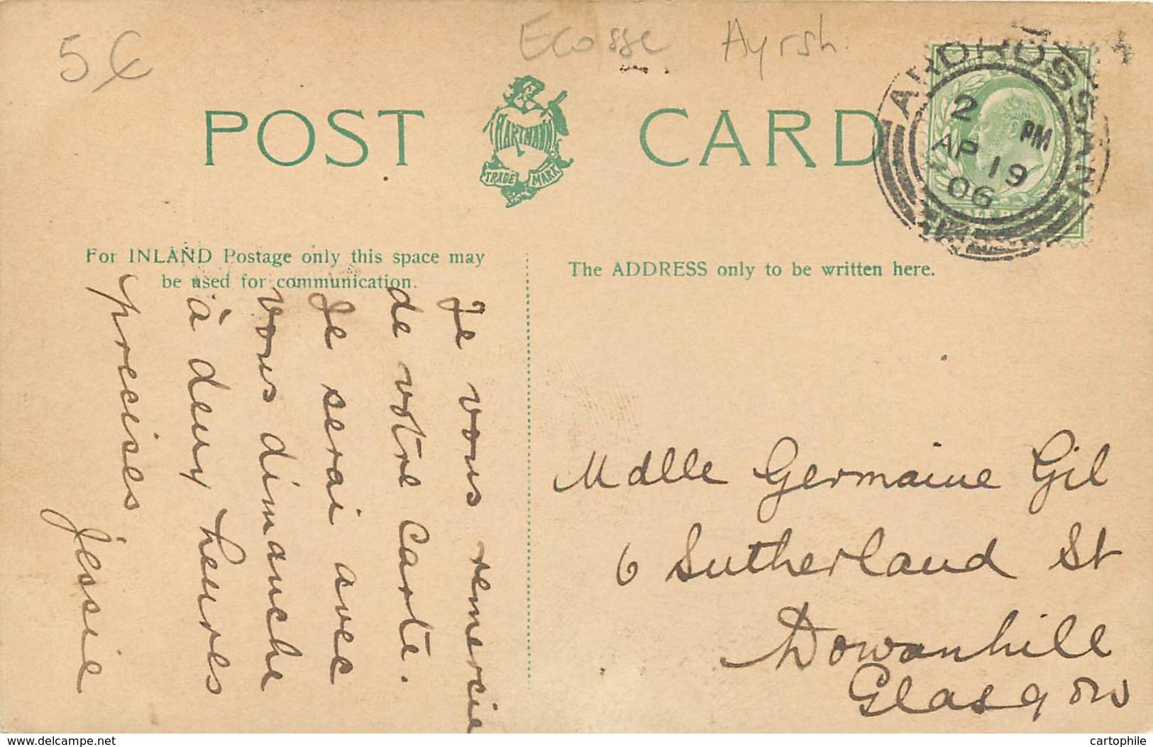 UK - Scotland - Ayrshire - Near Pirnmill In 1906 - Ayrshire