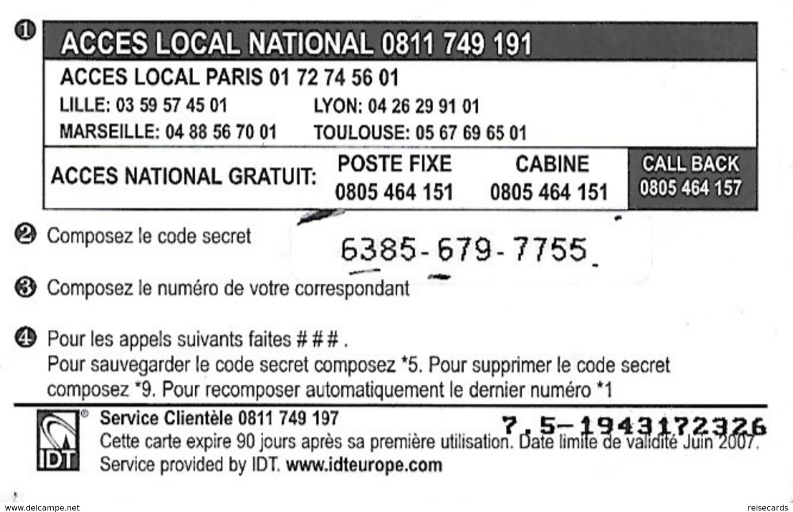 France: IDT Red Africa 06.07 - Frankreich