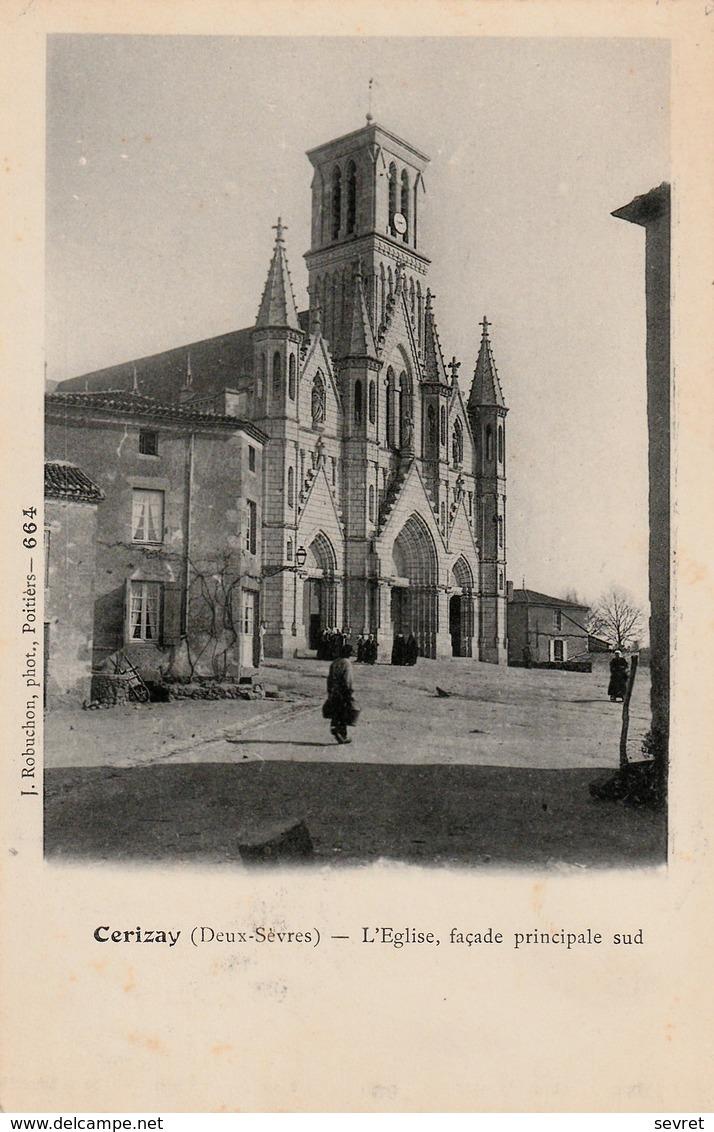 CERIZAY .  Façade Principale De L'Eglise. - Cerizay