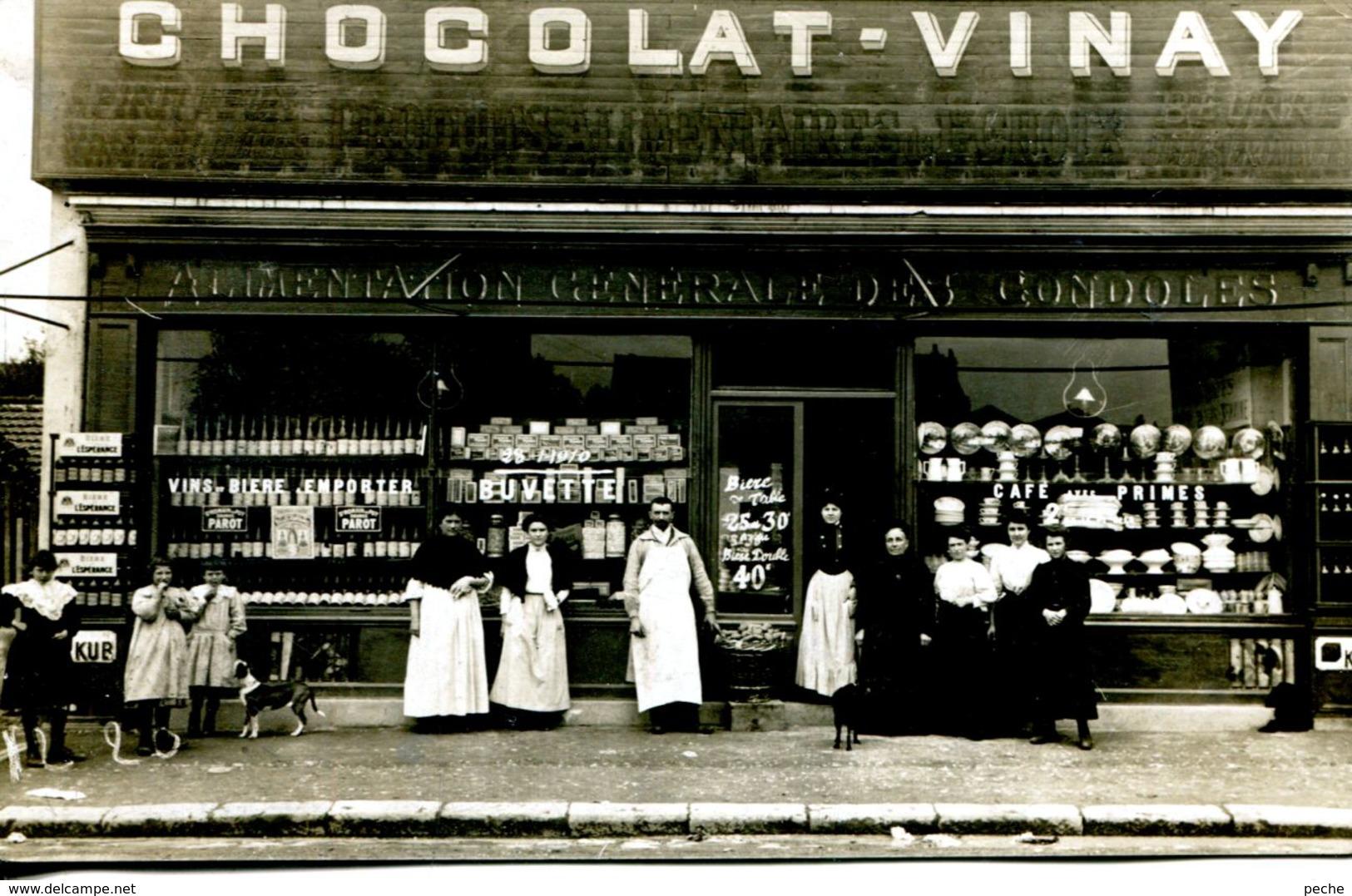 N°66620 -carte Photo Le Havre -chocolat Vinay -alimentation Générale Des Gondoles -1910- Rue Suffrene- - Other