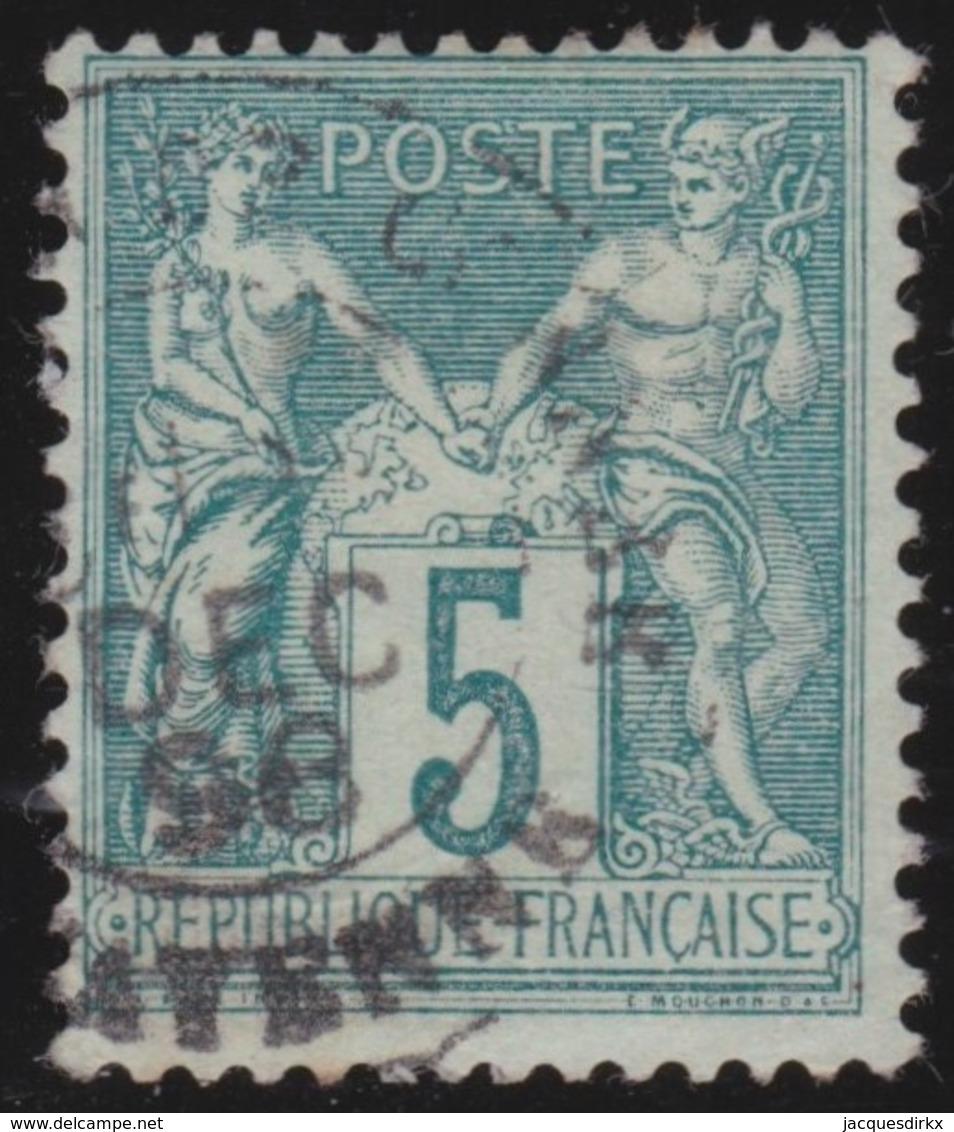 France   .   Yvert    .    102      .      O      .     Oblitéré - 1898-1900 Sage (Type III)
