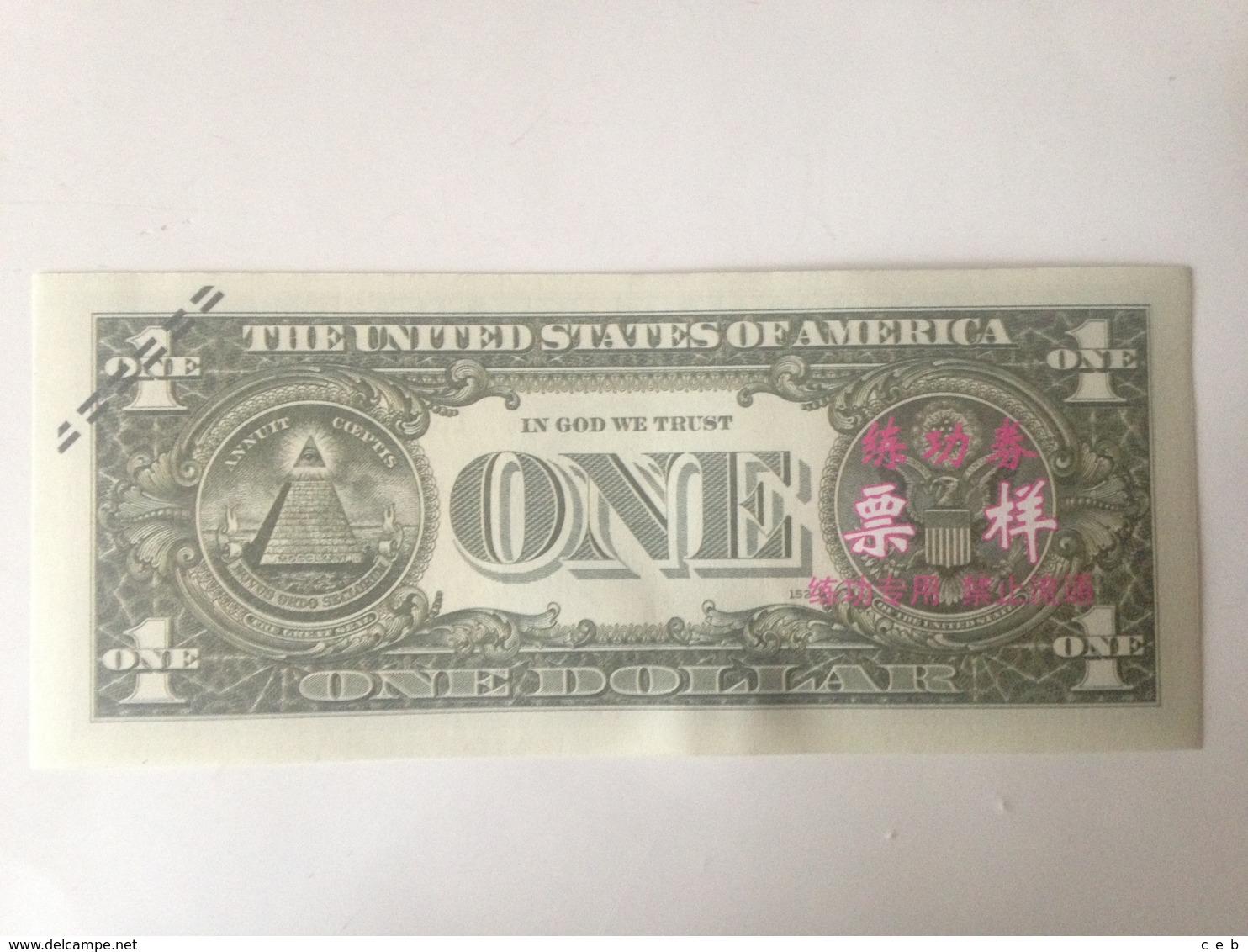 Billete George Washington. 1 Dólar 2006. Estados Unidos De América. Réplica. Sin Circular - Sin Clasificación