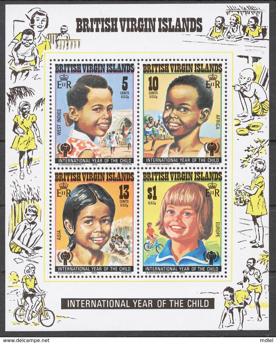 British Virgin Islands 1979 Mi# 358-61+ Bl.10** INTERNATIONAL YEAR OF THE CHILD - Iles Vièrges Britanniques