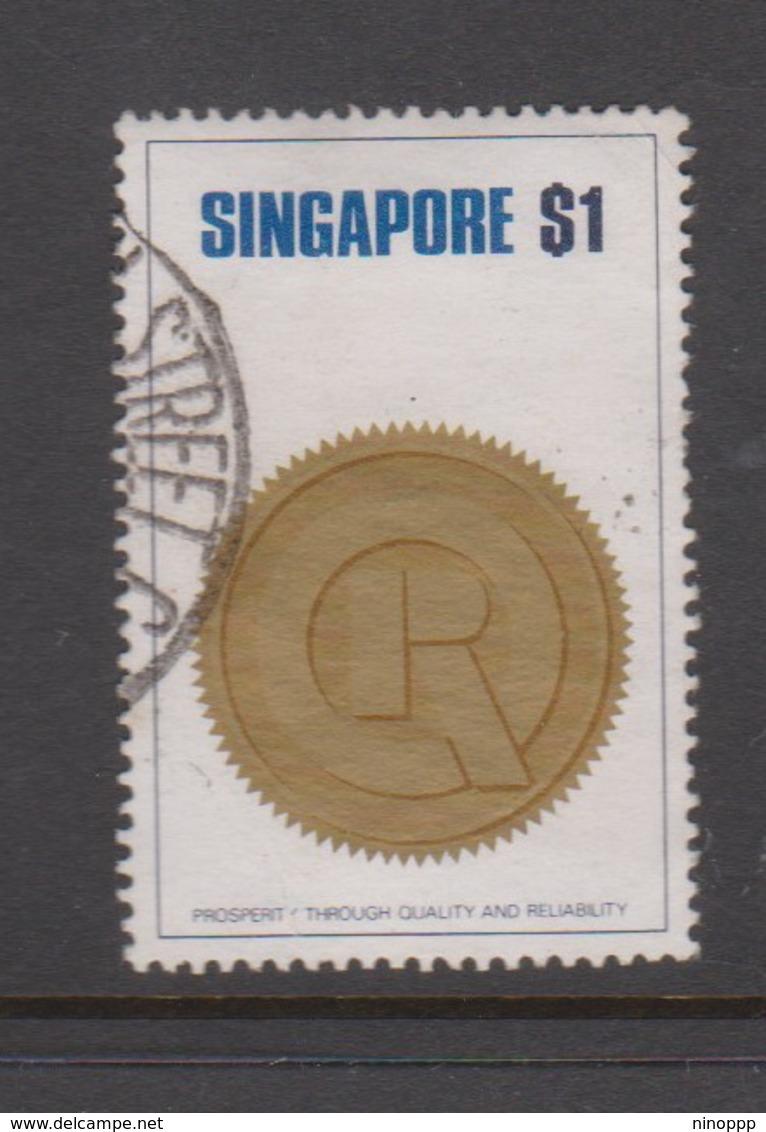 Singapore 196 1973 PQR, $ 1.00 Pqr Seal,used - Singapore (1959-...)