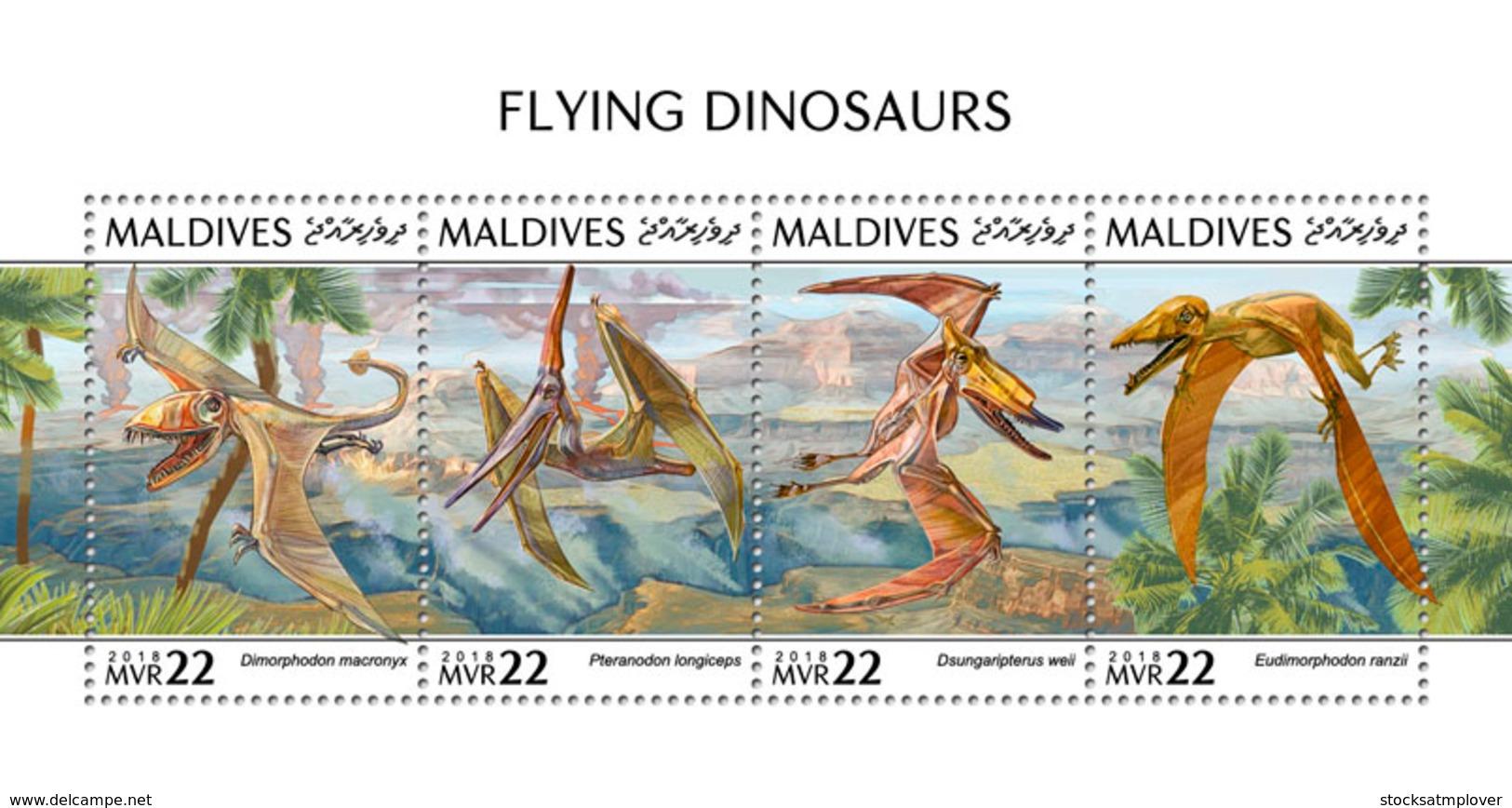 Maldives 2018  Flying Dinosaurs  Fauna  S201810 - Maldives (1965-...)