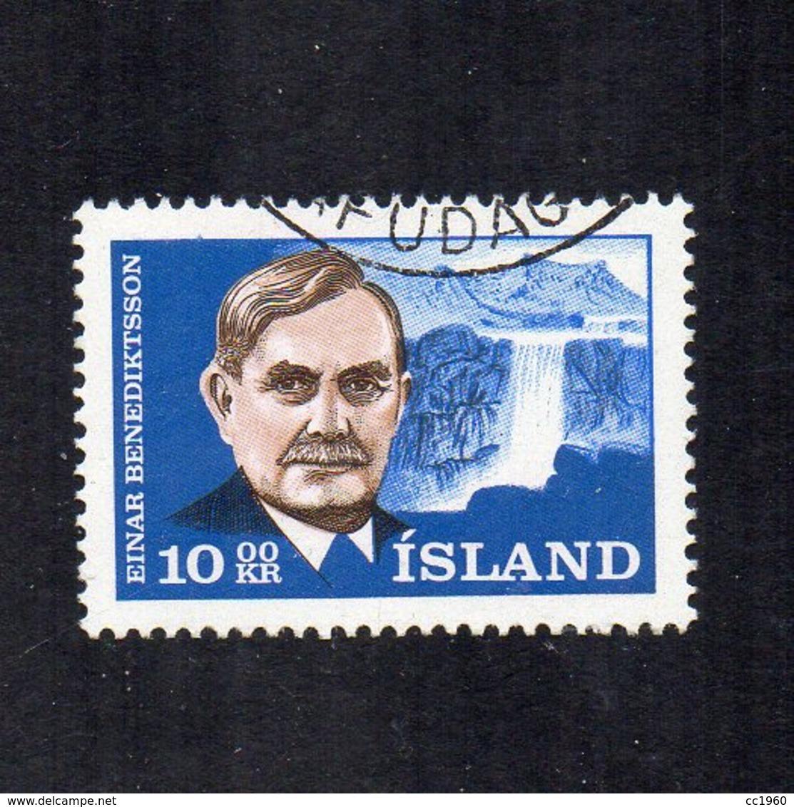 Islanda - 1965 - Einar Benediktsson - Usato - Vedi Foto - (FDC12982) - 1944-... Republik