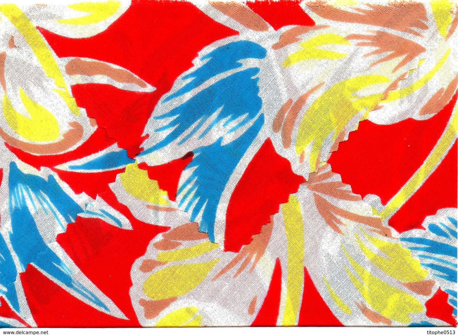 POLYNESIE. Enveloppe En Tissu Ayant Circulé En 1994. - Polinesia Francesa