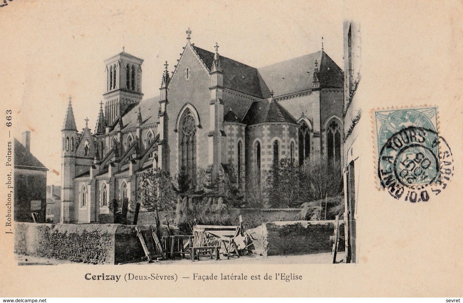 CERIZAY - Façade Latérale De L'Eglise - Cerizay