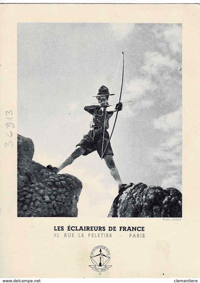 Carte Postale 40c + 60c Des Eclaireurs De France, Non Circulée - Entiers Postaux