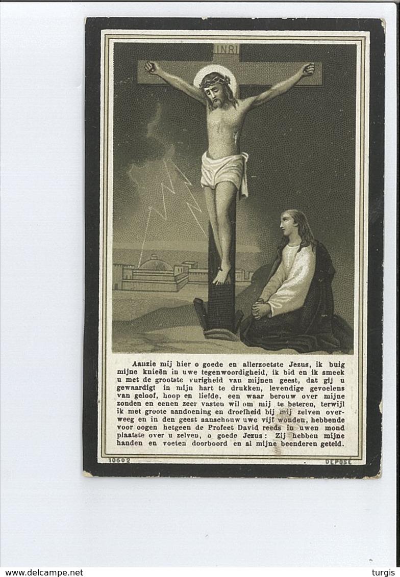 PASTOORSMEID BERLINDIS DE SADELEER ° KERKSKEN ( HAALTERT ) 1804 + KLUIZEN ( EVERGEM ) 1907 102 JAAR 8 MAAND - Images Religieuses