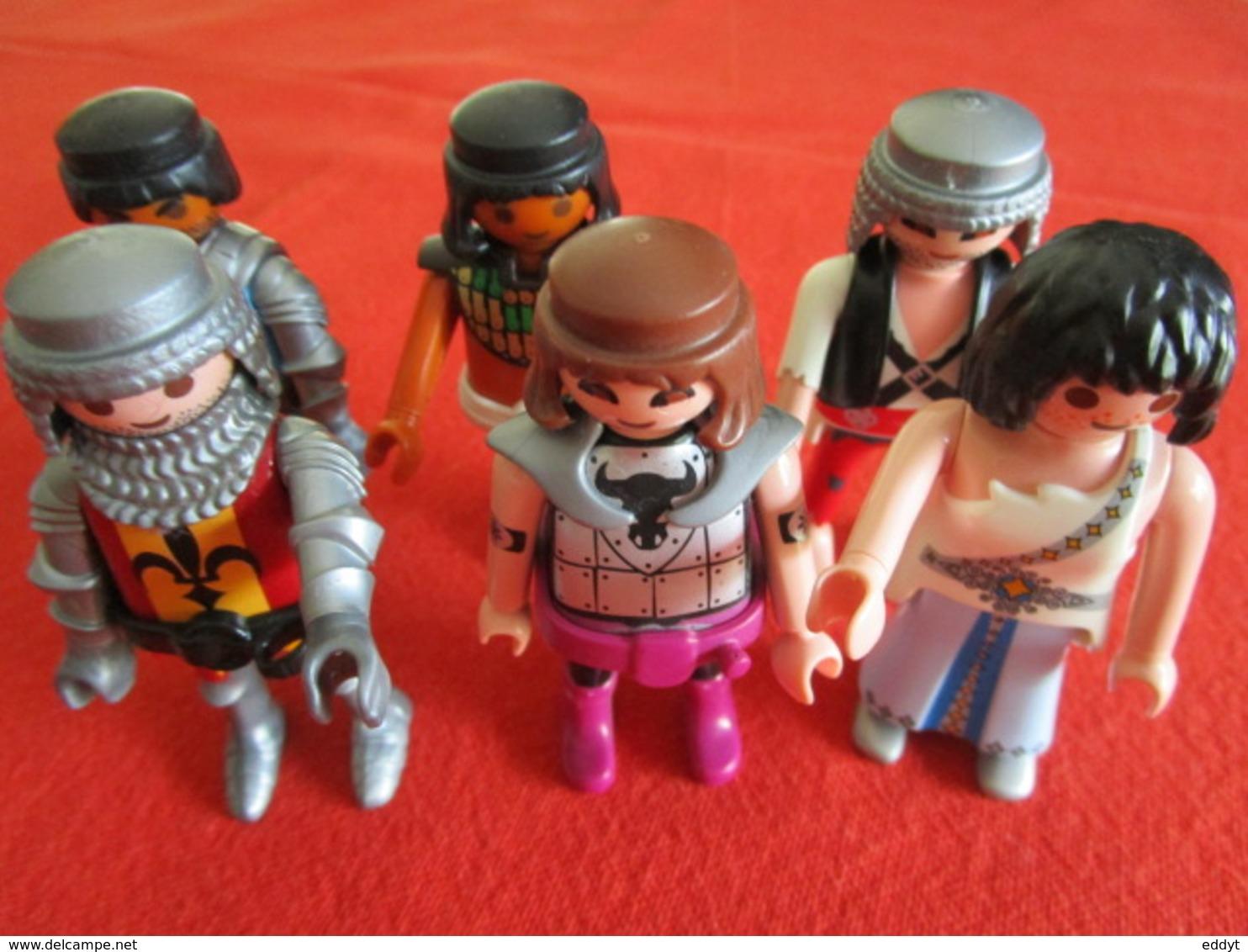 LOT De 6 JOUETS Figurines  PLAYMOBILE TBE - Playmobil