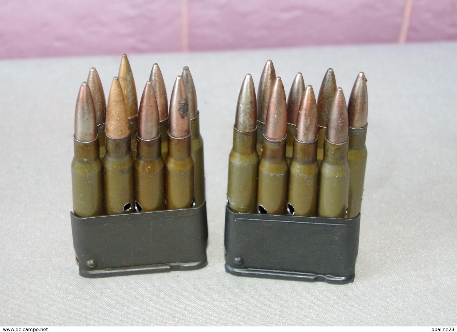DEUX CHARGEURS DE FUSIL GARAND USM1 - Armi Da Collezione