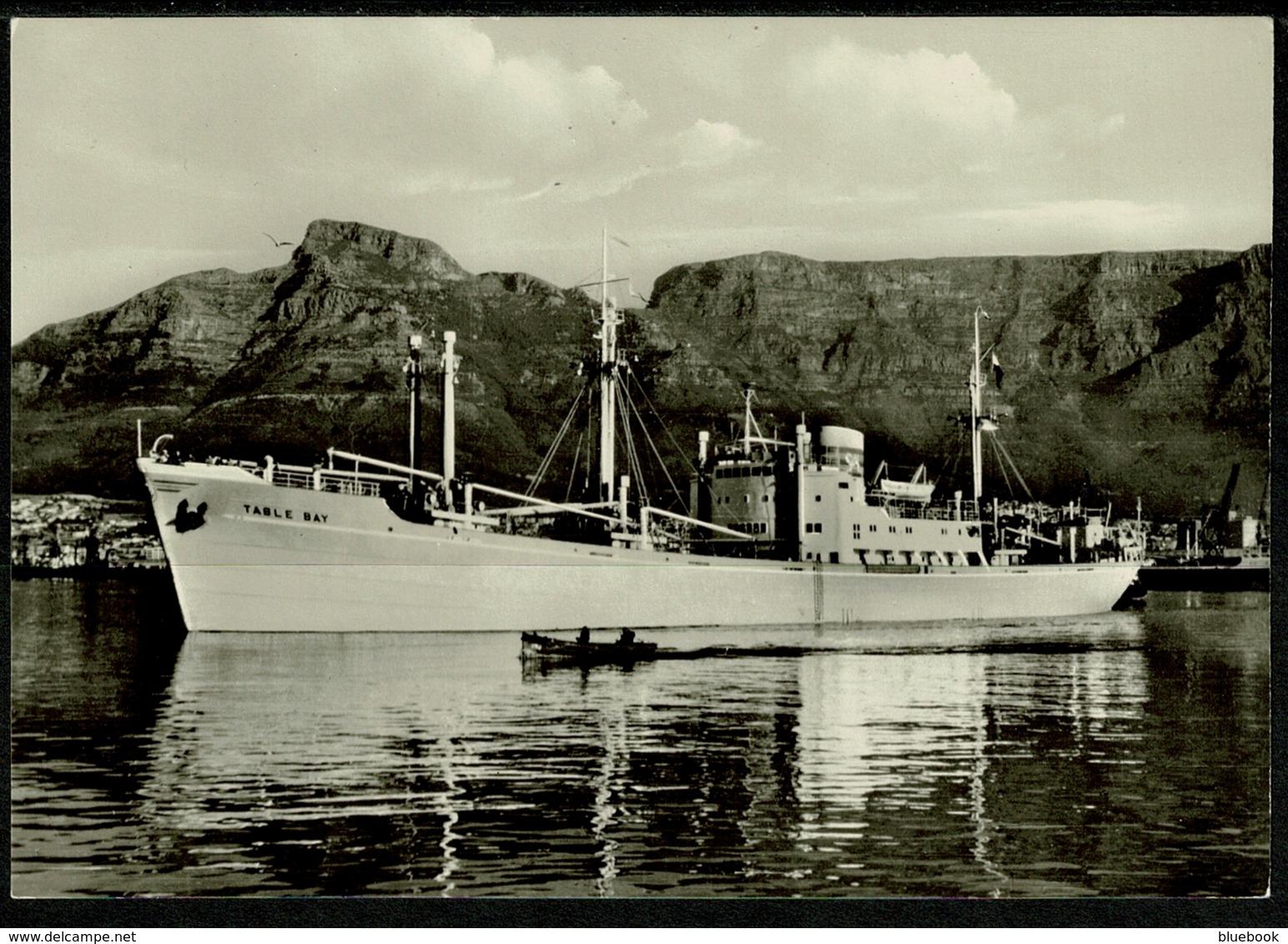 Ref 1239 - Real Photo Ship Postcard - M/V Table Bay - Germany - Paquebote