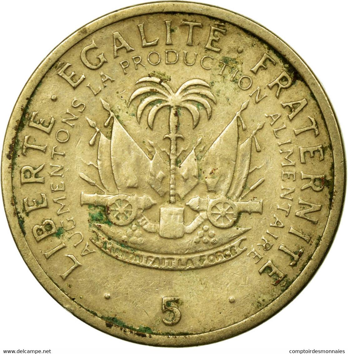 Monnaie, Haïti, 5 Centimes, 1975, TB, Copper-nickel, KM:119 - Haïti