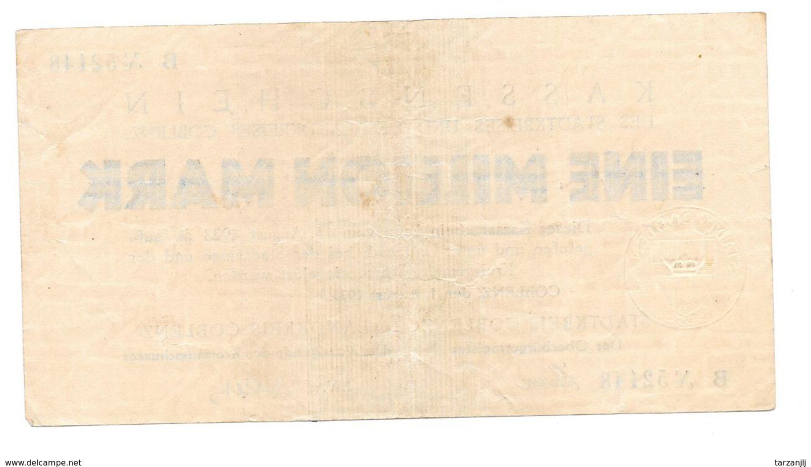 Billet De Ein Million Mark 1923 Coblenz Stadt Notgeld - [11] Emissioni Locali