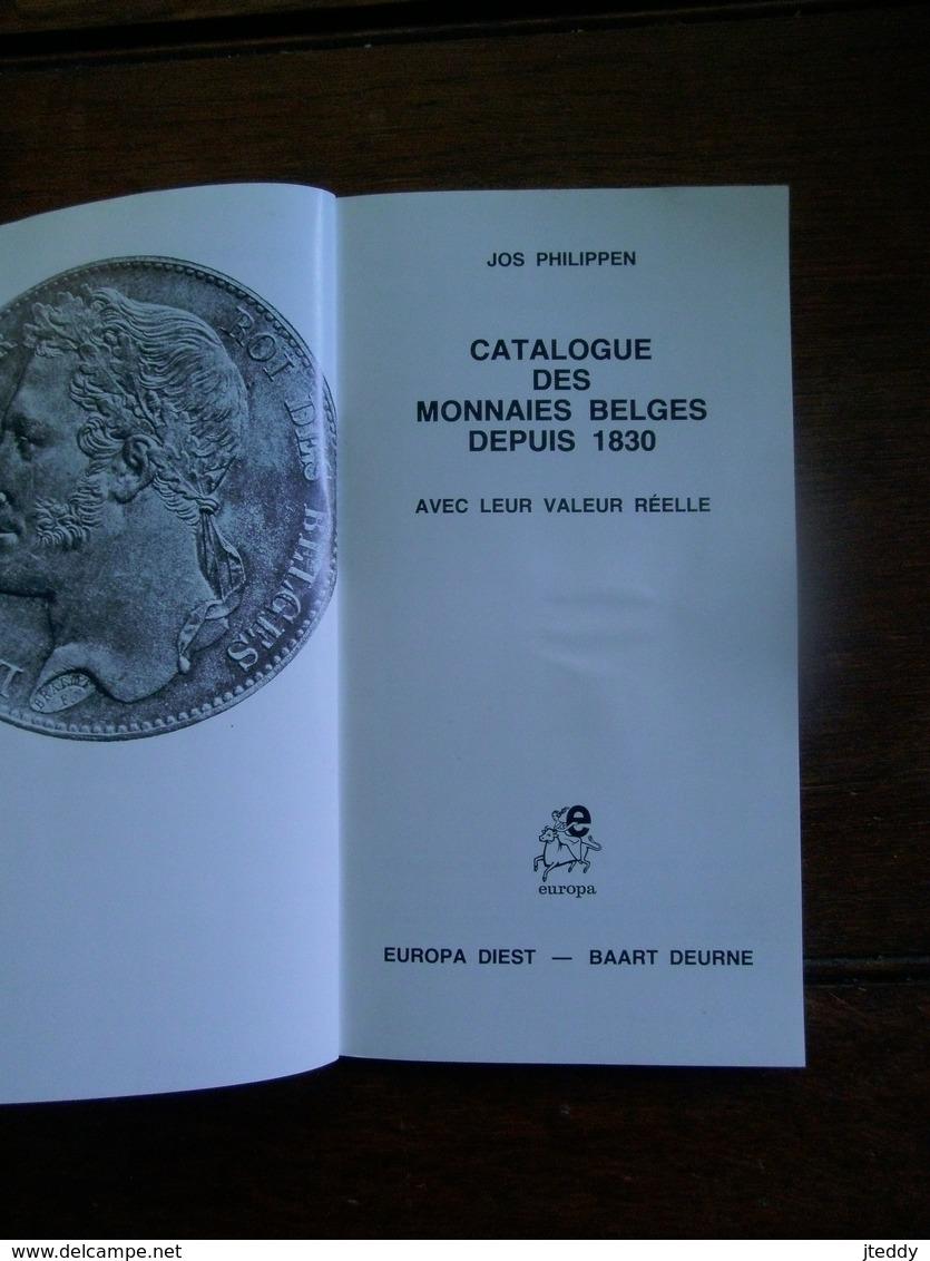 Catalogue Des Monnaies Belges Depuis 1830  In Franse Taal - Belgique