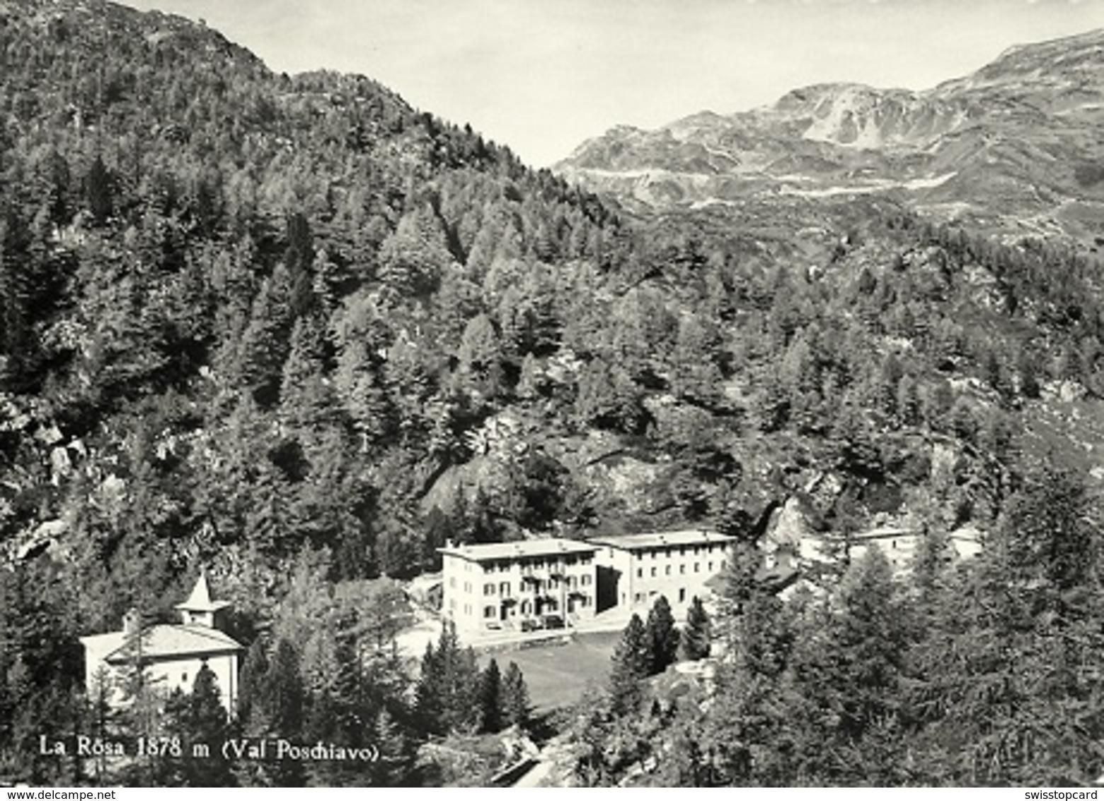 LA RÖSA (Val Poschiavo) Auto Mit Anhänger - GR Grisons