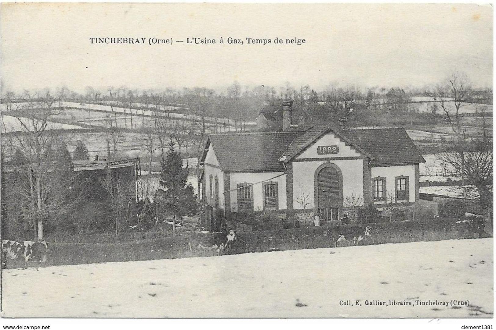 Tinchebray L'usine à Gaz Temps De Neige - Autres Communes