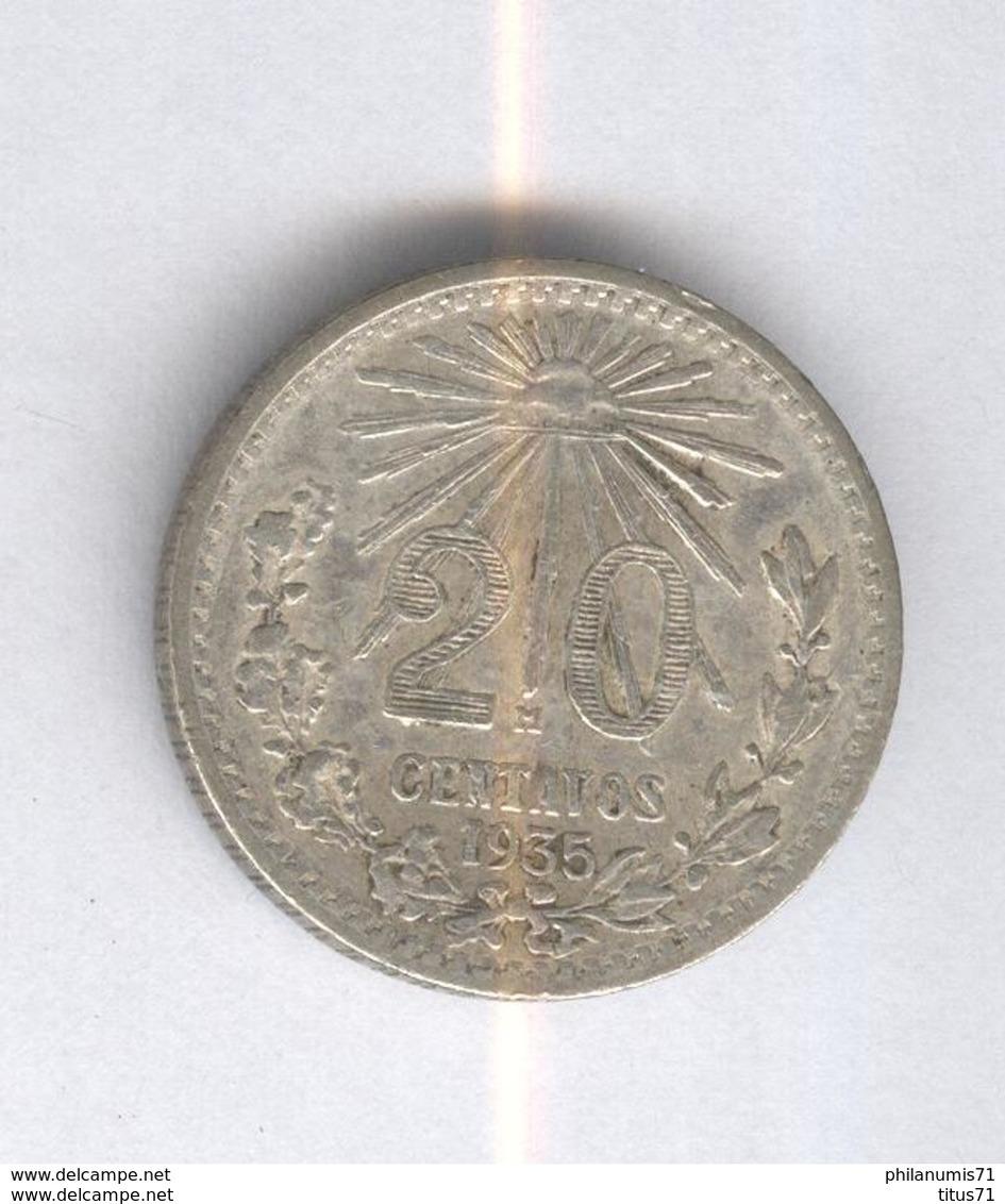 20 Centavos Mexique / Mexico 1935 TTB+ - Mexico