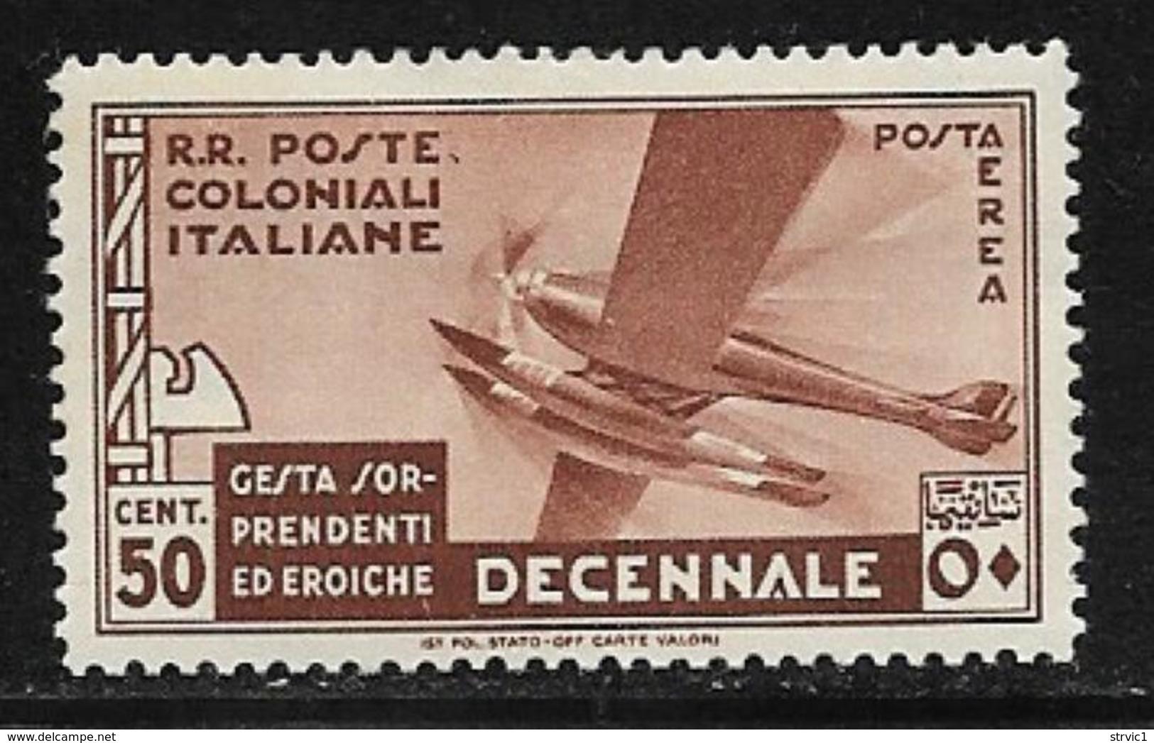 Italian Colonies Scott # C20 Mint Hinged Plane, 1933 - Italy