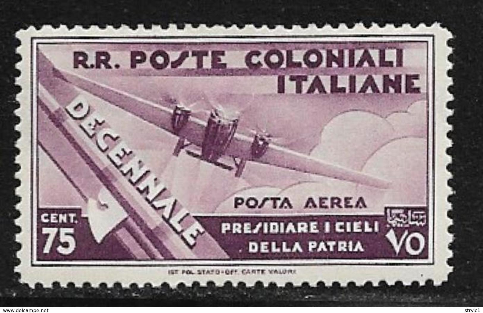 Italian Colonies Scott # C21 Mint Hinged Plane, 1933 - Italy