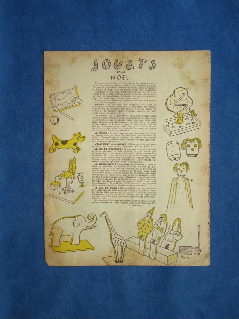SCOUTISME REVUE MENSUELLE N°235 SCOUTS NOVEMBRE DÉCEMBRE 1948 ILL JOUBERT? FORGET BERNADAC JOUETS NOEL - Libros, Revistas, Cómics
