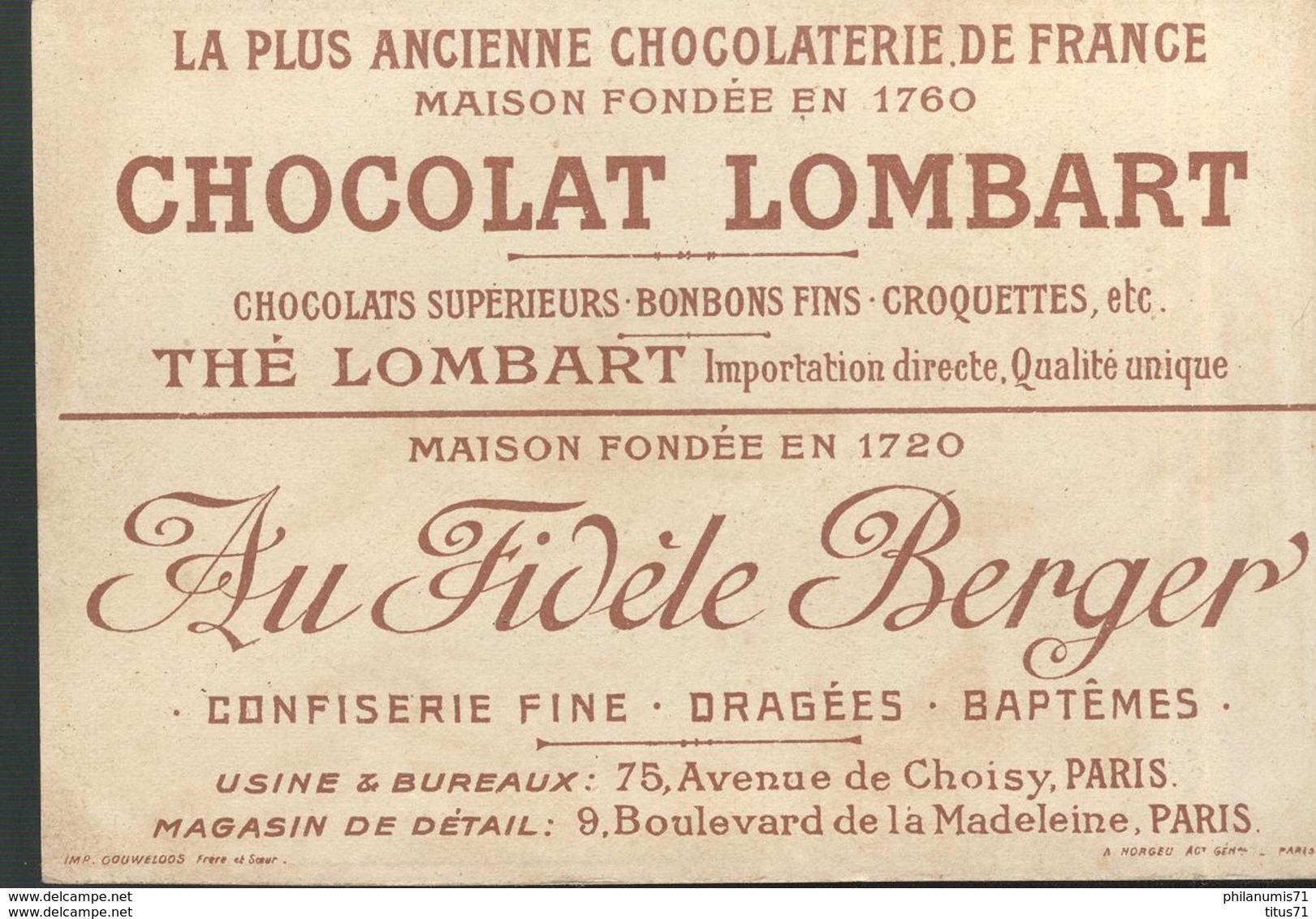 Chromo  Chocolat Lombart - Facteur Hollandais - Facteur Marocain - Lombart