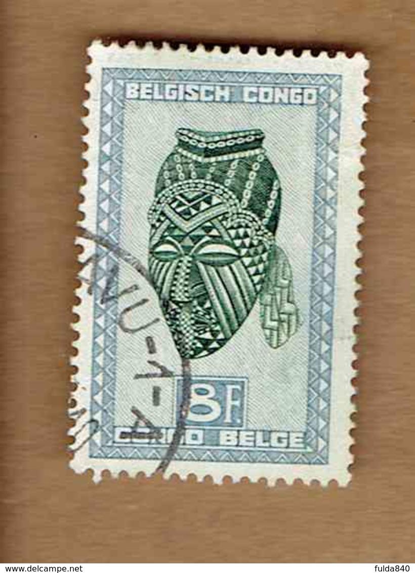 Congo Belge.(COB-OBP)  1947 - N°291B    *ARTISANAT ET MASQUES*  8F   Oblitéré BUKAVU? - Congo Belge