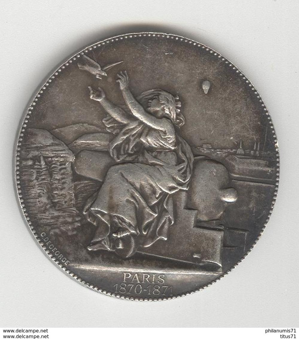 Médaille Paris 1870-1871 - Communications Aériennes - Ministère De La Guerre - Andere