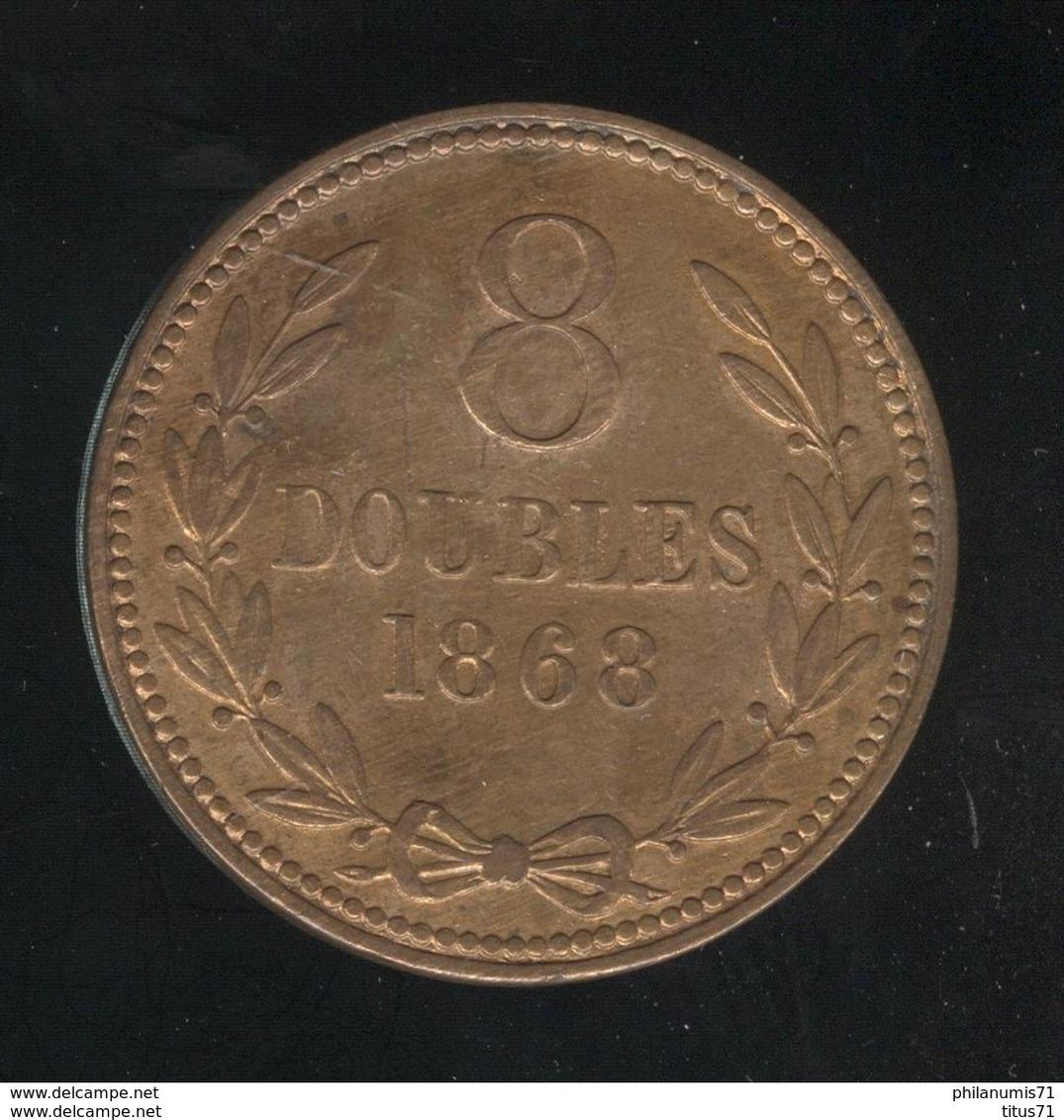 8 Doubles Guernesey 1868 TTB+ - Guernsey