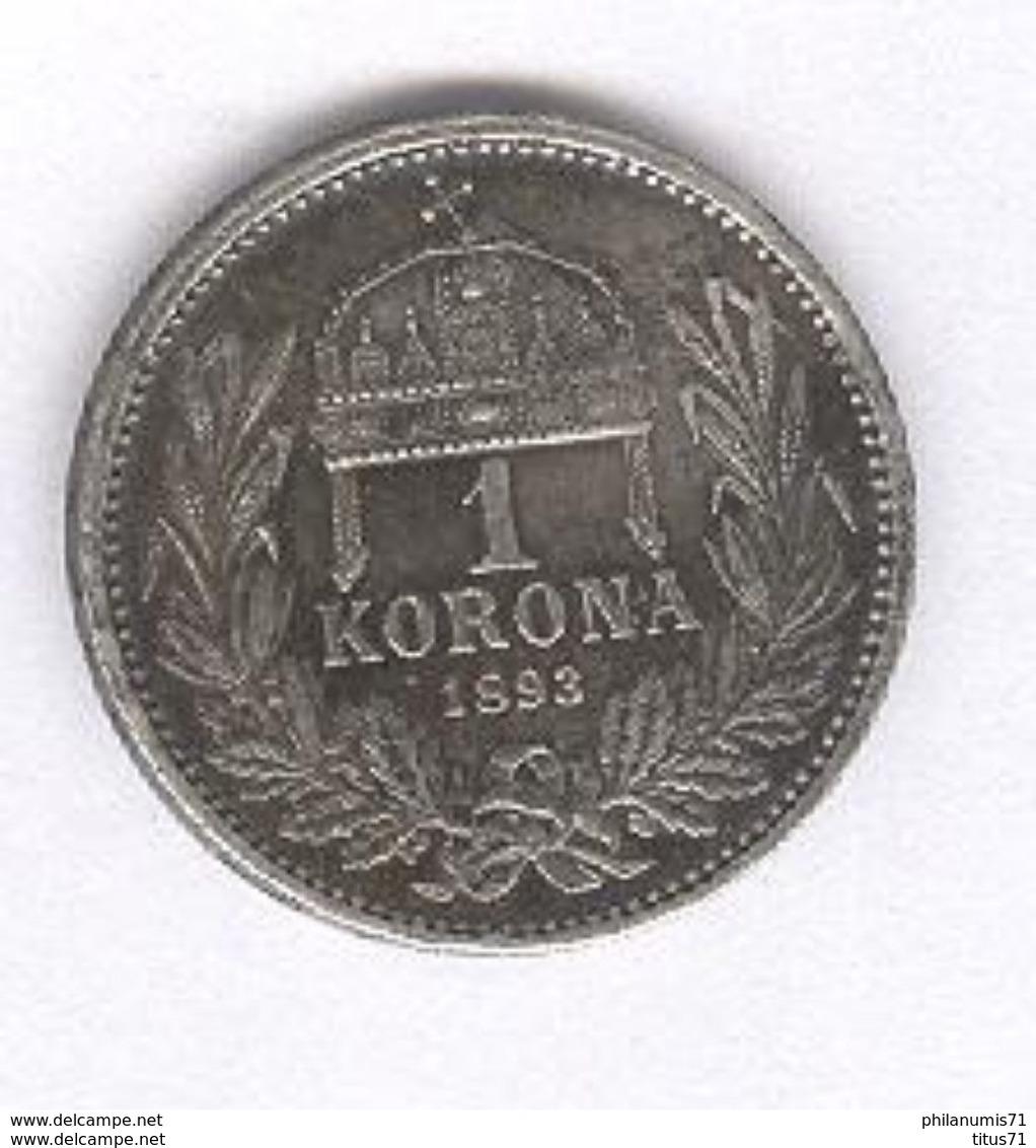 1 Korona Hongrie / Hungary 1893 - SUP - Hongrie