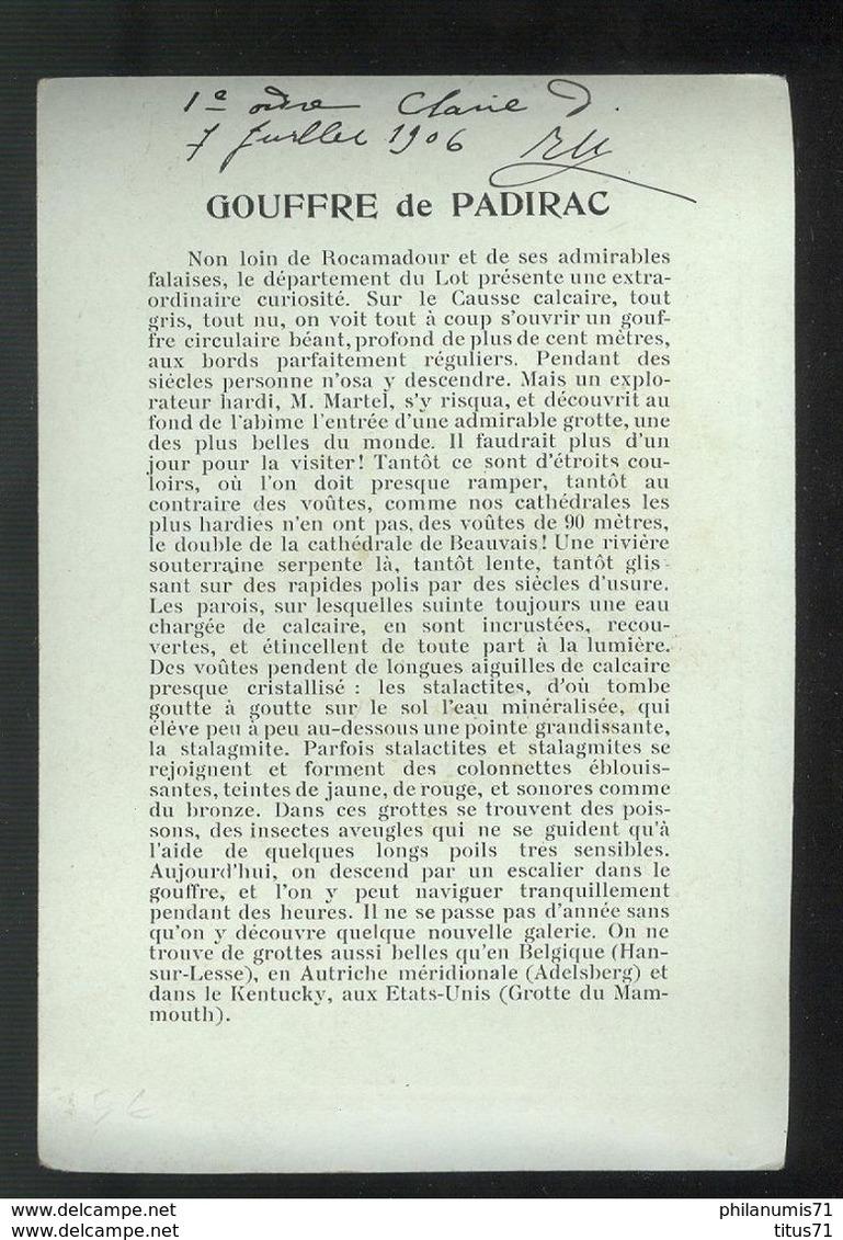 Publicité Format CPA Collection Hugo D'Alési - Gouffre Padirac - Illustrators & Photographers
