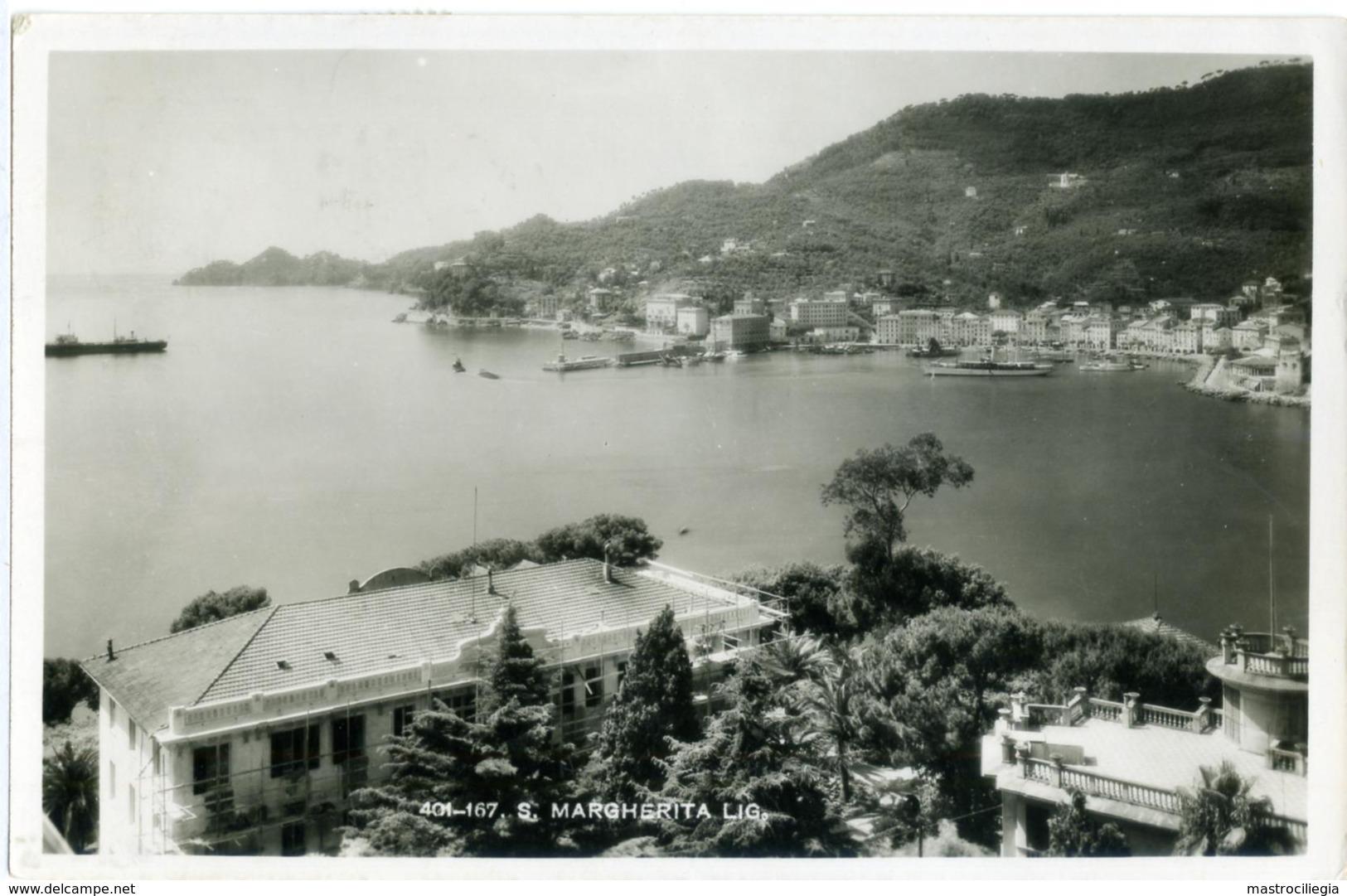 MARCONI G. 20c. + IMPERIALE 50 C. Da Genova Per Posta Speciale 500 1938 Guerra Di Spagna  Card Santa Margherita Ligure - Storia Postale