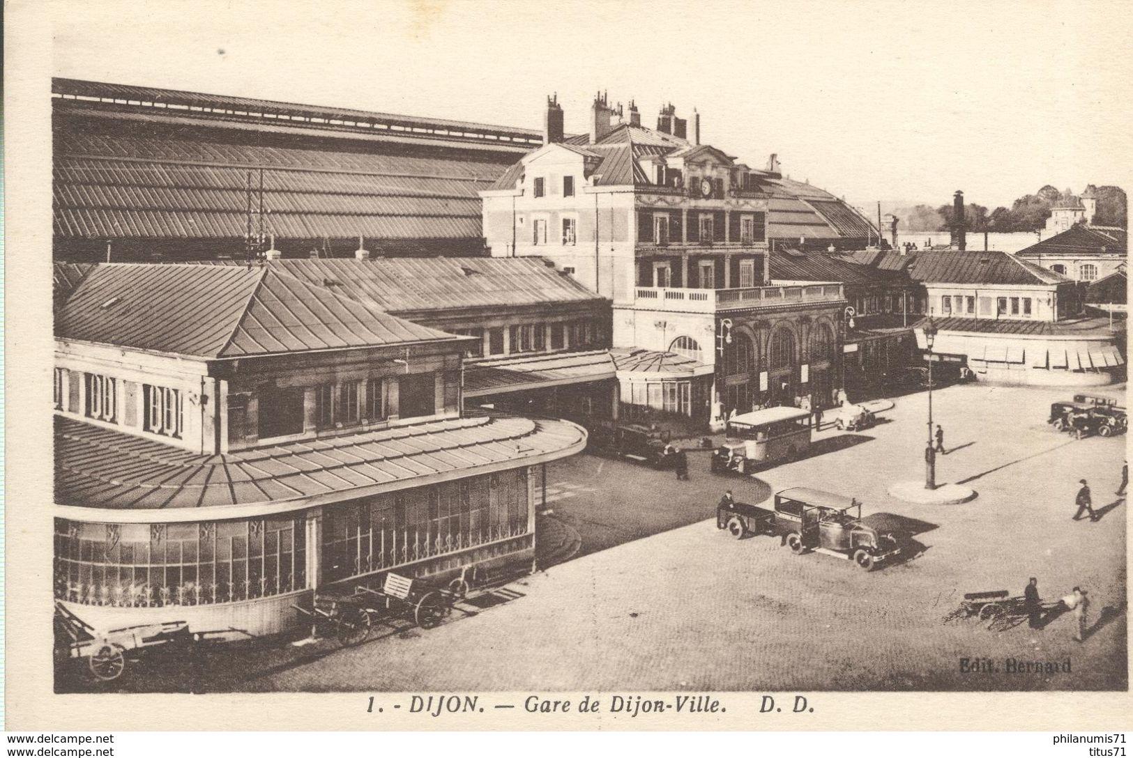 Cpa  Dijon - Gare De Dijon Ville - Non Circulée - Dijon