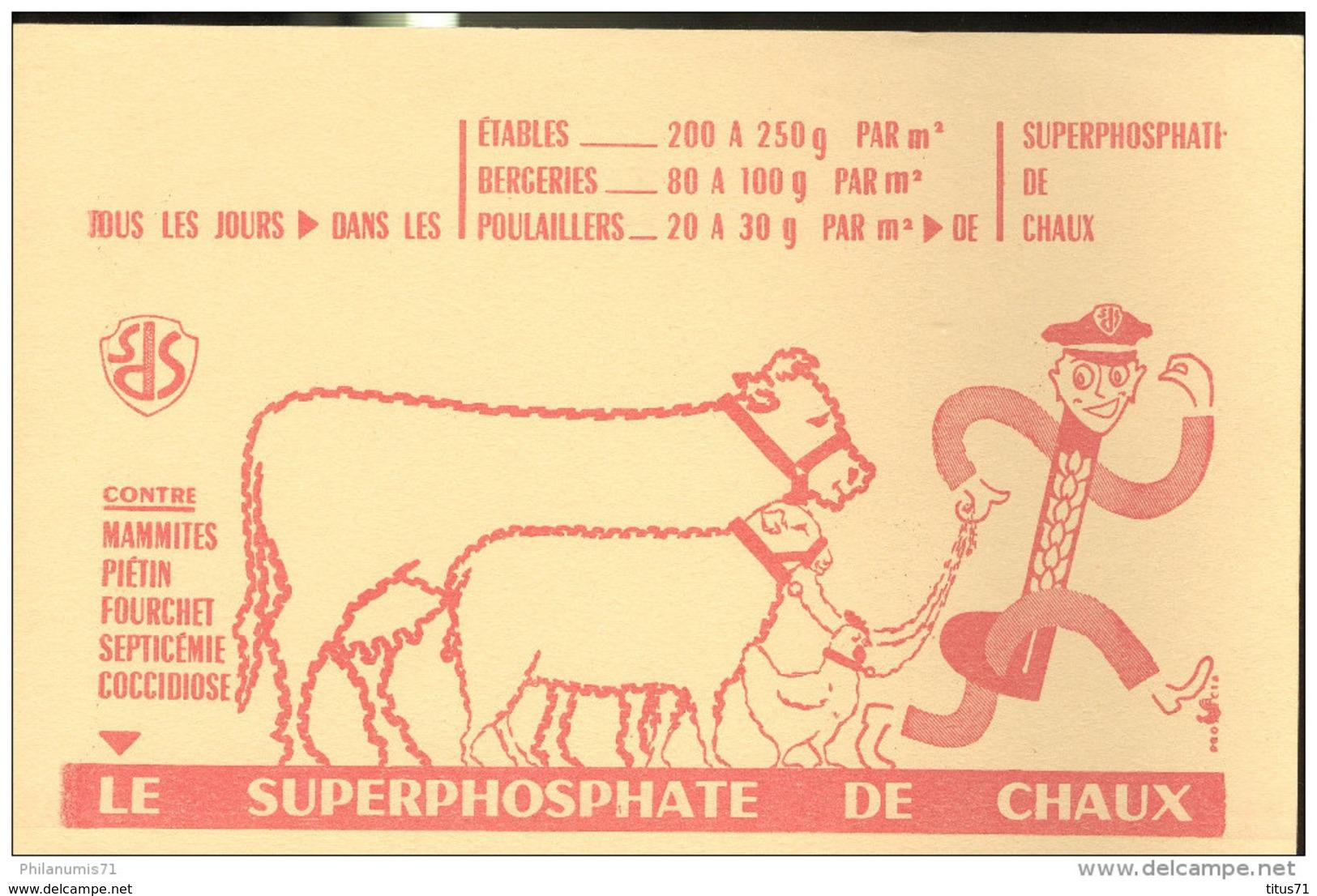 Buvard Superphosphate De Chaux - Très Bon état - Agriculture