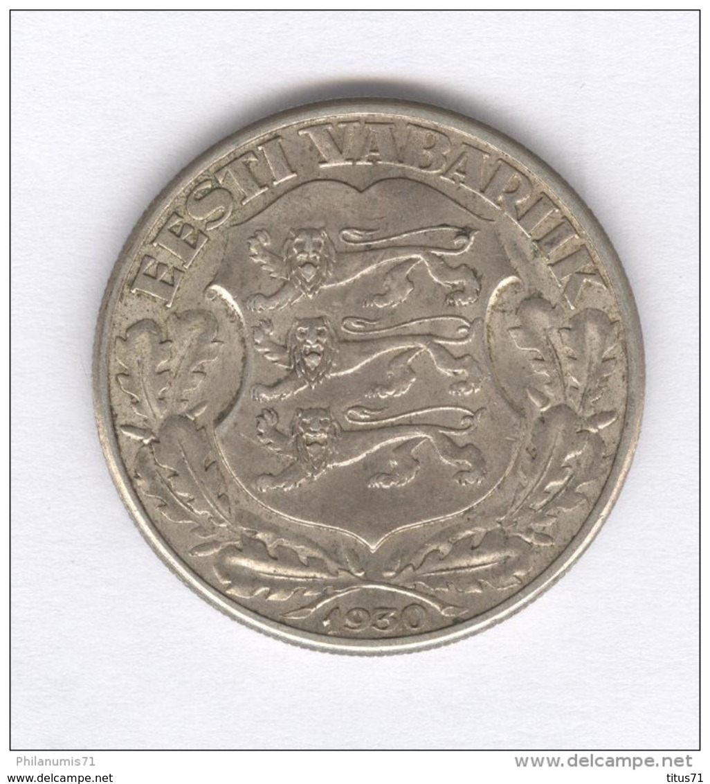 2 Krooni - Estonie - 1930 - Argent / Silver - Estonia