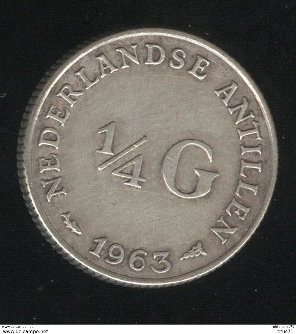 1/4 Gulden Antilles Néerlandaises / Nederland Antillen 1963 TTB+ - Netherland Antilles