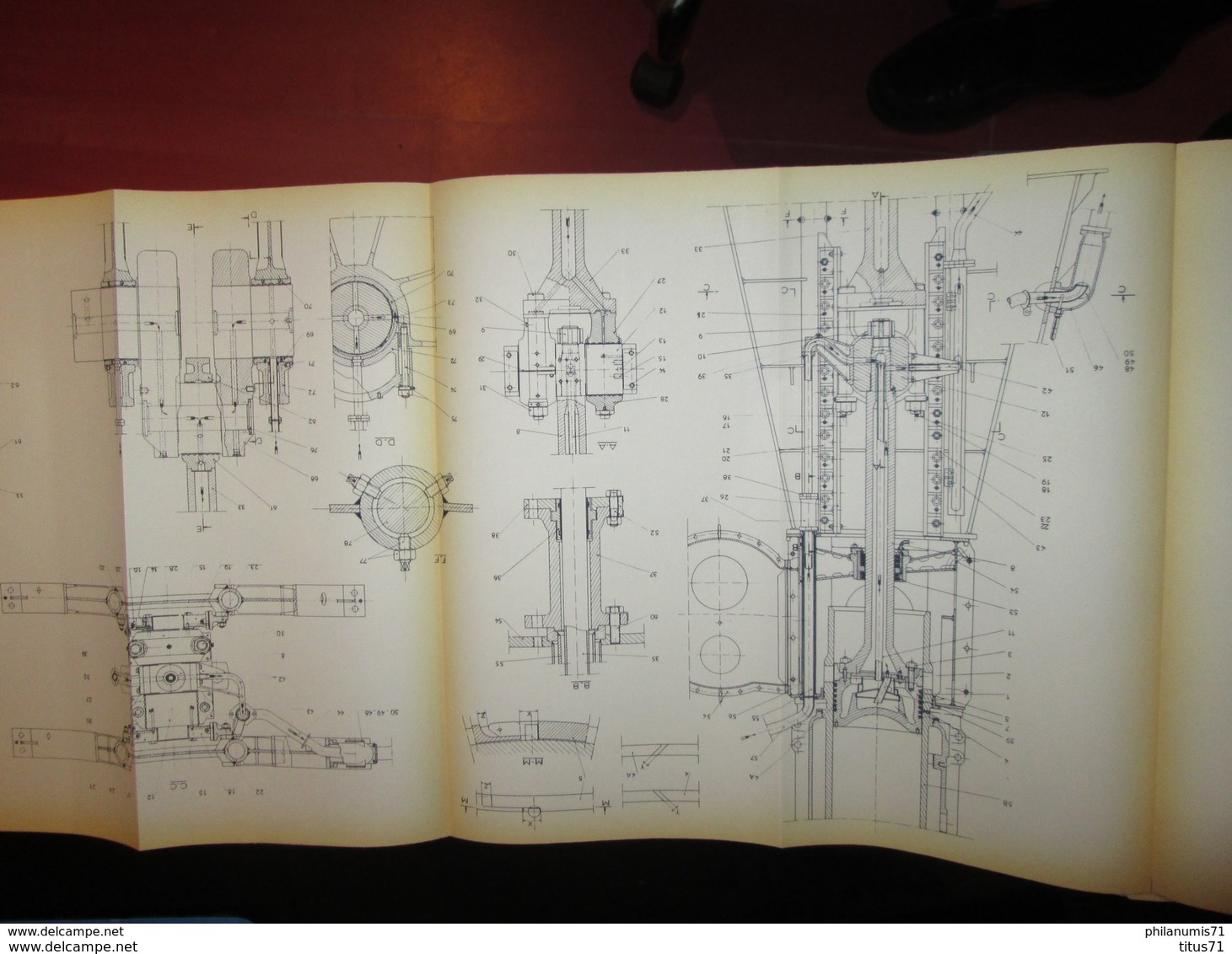 Notice D'entretien - Moteur Burmeister Et Wain Type 862 VT2BF 140 Du Cargo De 10 500 T. CIRCEA Des Chargeurs Réunis - Machines