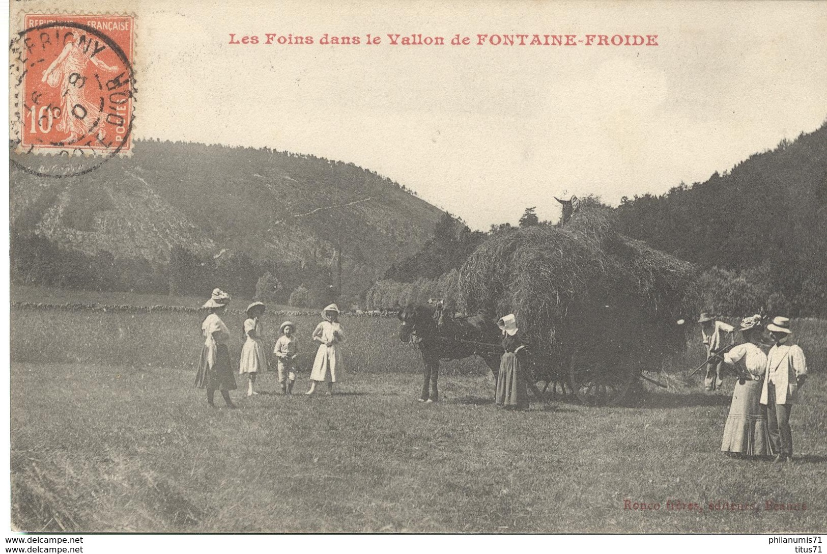CPA  Vallon De Fontaine Froide - Foins Dans Le Vallon -  Circulé 1910 - France