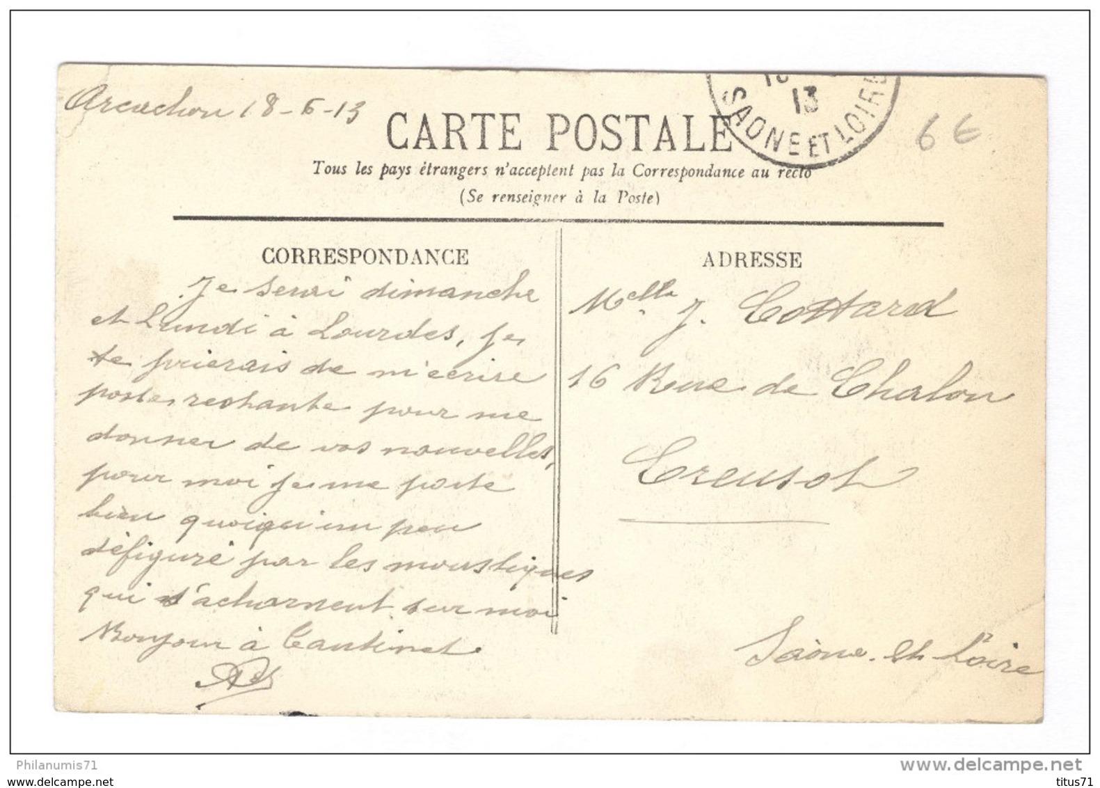 CPA Arcachon - Réservoir à Huitres Sur Le Bord Du Bassin - Circulée 1913 - Arcachon