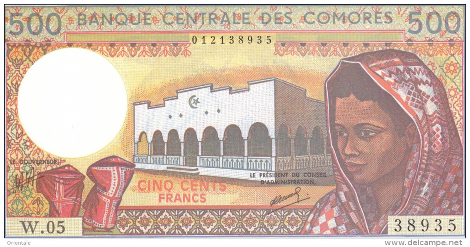COMOROS P. 10b 500 F 1994 UNC (s. 9) - Comores