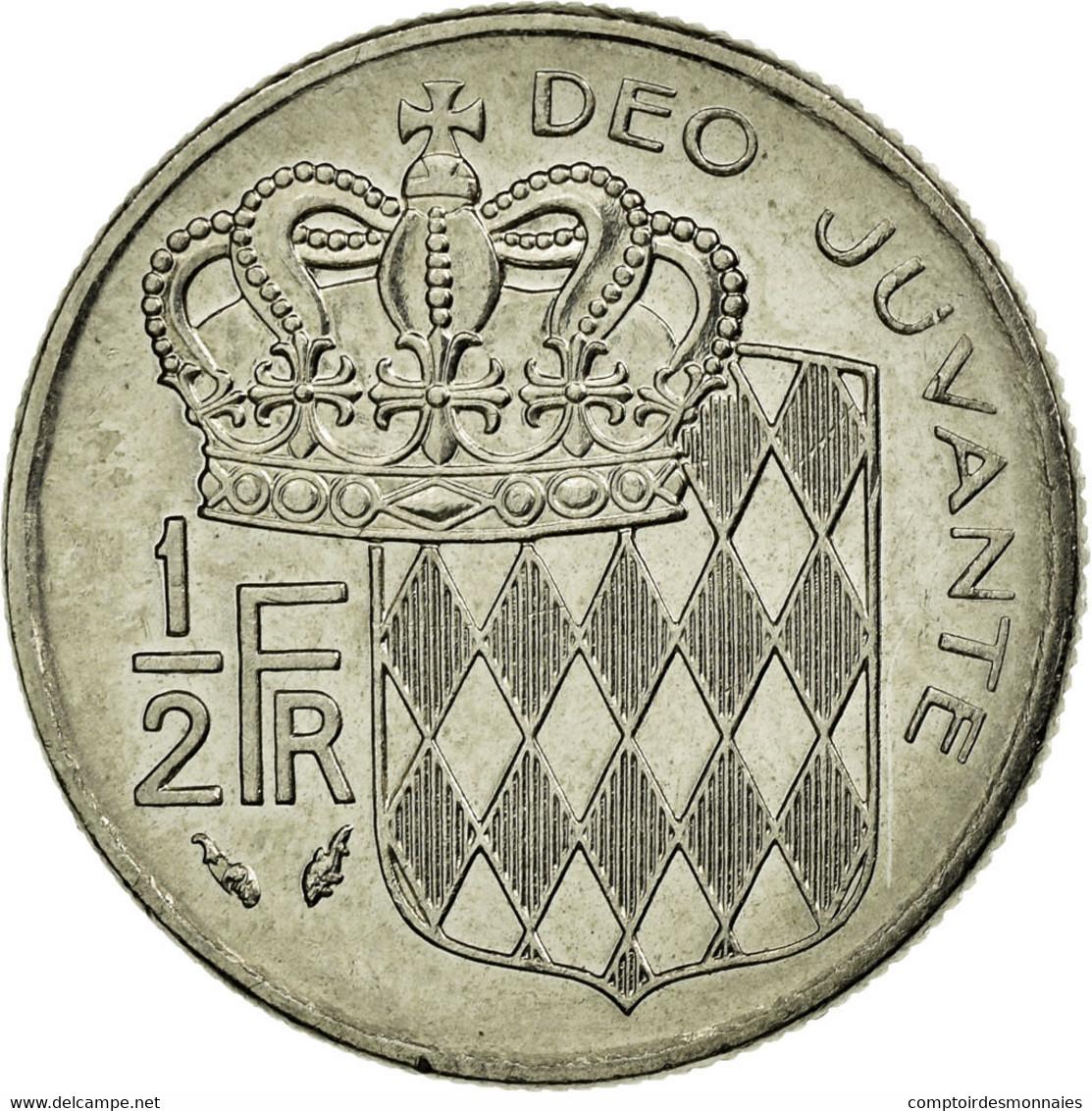 Monnaie, Monaco, Rainier III, 1/2 Franc, 1982, TTB, Nickel, Gadoury:MC 149 - 1960-2001 Nouveaux Francs