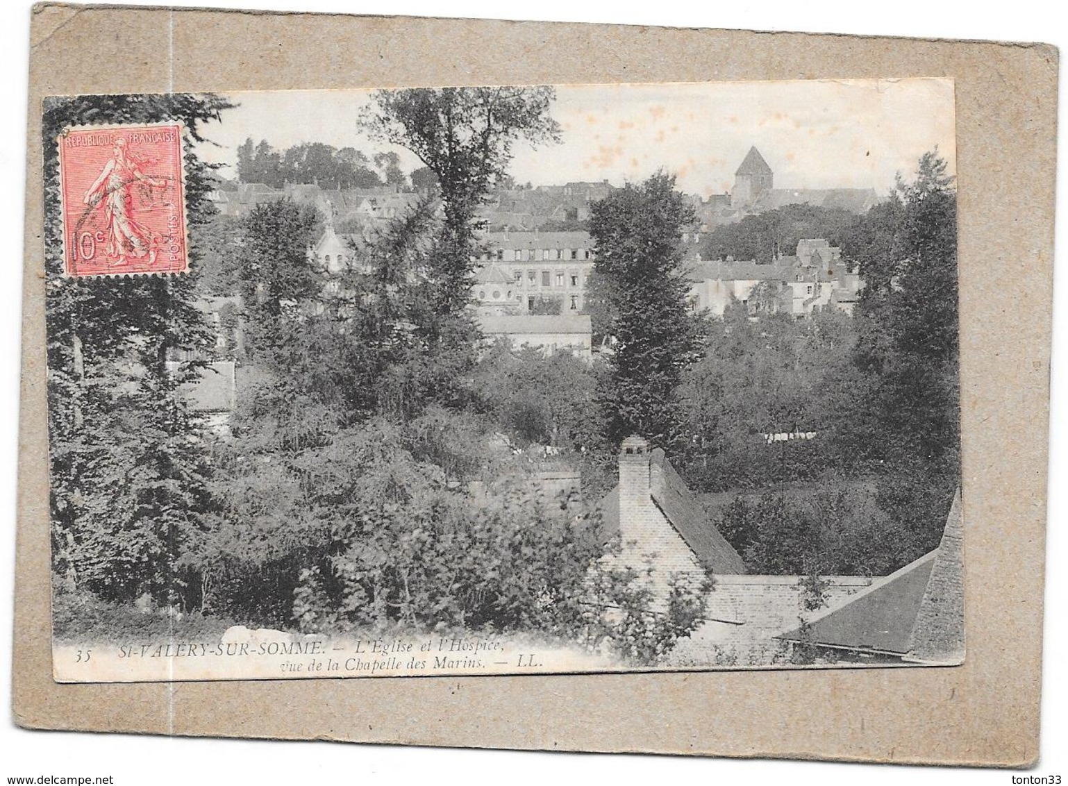 SAINT VALERY SUR SOMME - 80 -  L'Eglise Et L'Hospice   - DELC6** -- - Saint Valery Sur Somme