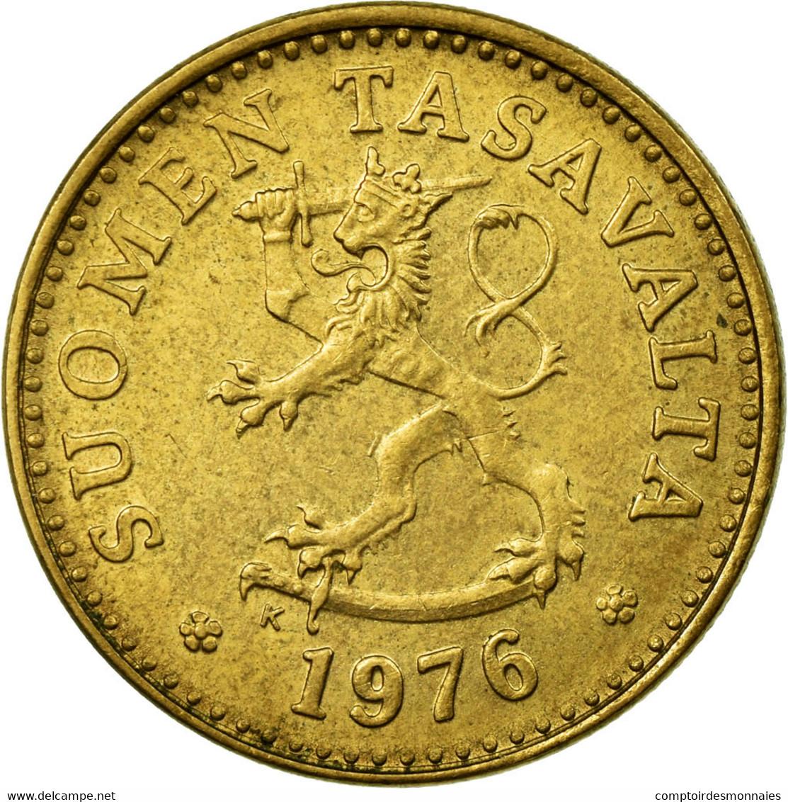 Monnaie, Finlande, 10 Pennia, 1976, TTB, Aluminum-Bronze, KM:46 - Finlande