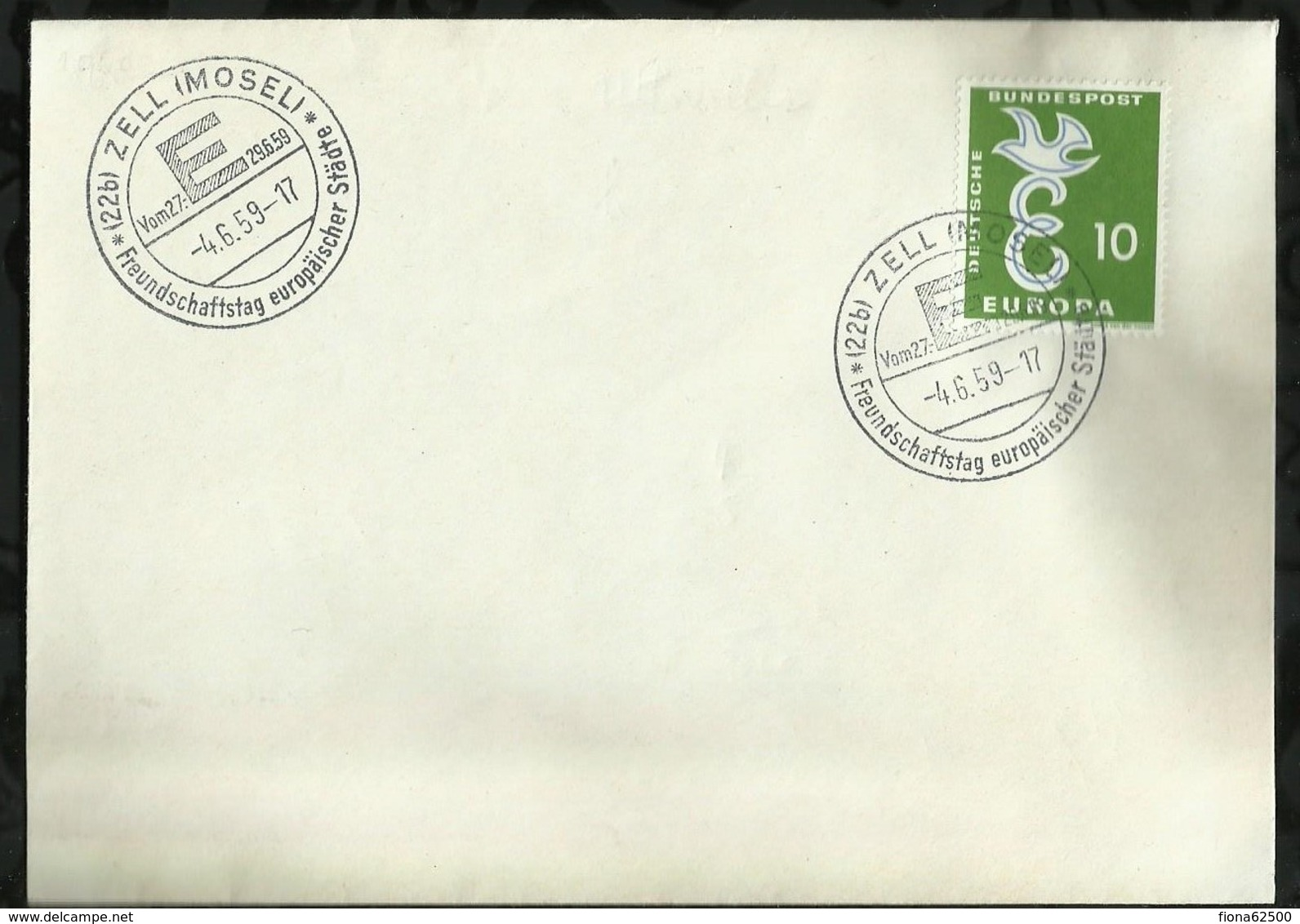ENVELOPPE DATEE DU : 04 JUIN 1959 . - BRD