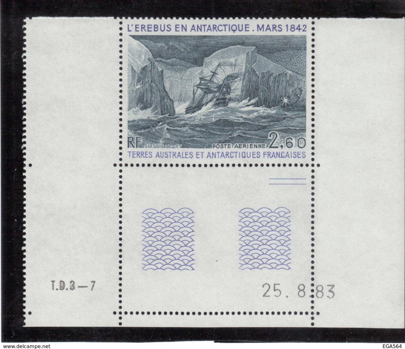 B5 - TAAF PA79** MNH De 1984 - L' EUREBUS EN ANTARCTIQUE.MARS 1842. Grand Coin De Feuille Daté. - Terres Australes Et Antarctiques Françaises (TAAF)