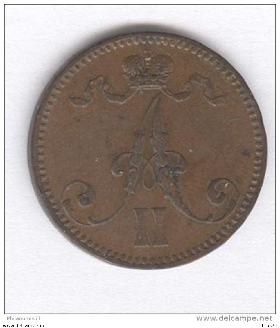 5 Penniä Finlande - 1867 - Finlande