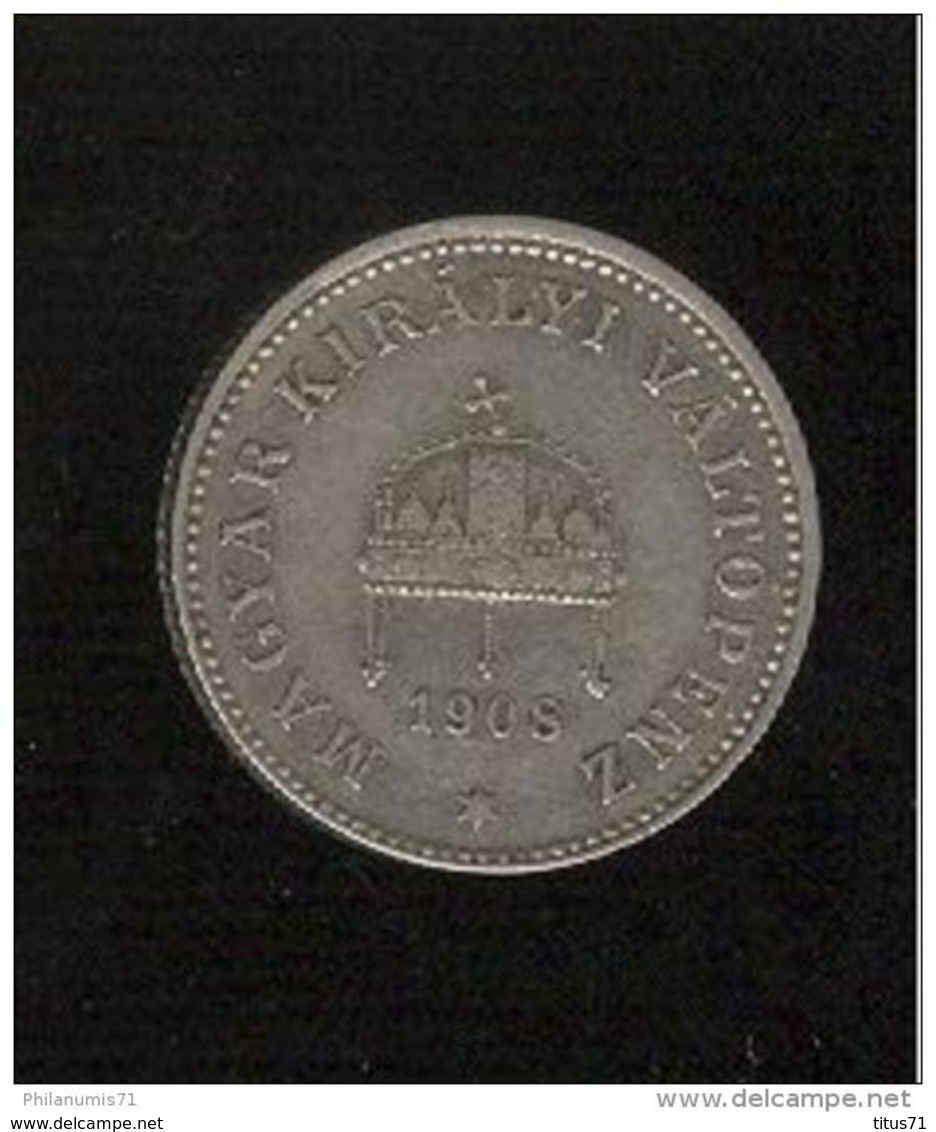 20 Filler Hongrie 1908 - Hongrie